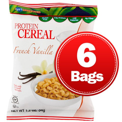Protein Cereal French Vanilla (6 ct) Kay's Naturals - Rapid Diet Weight Loss Products Shop
