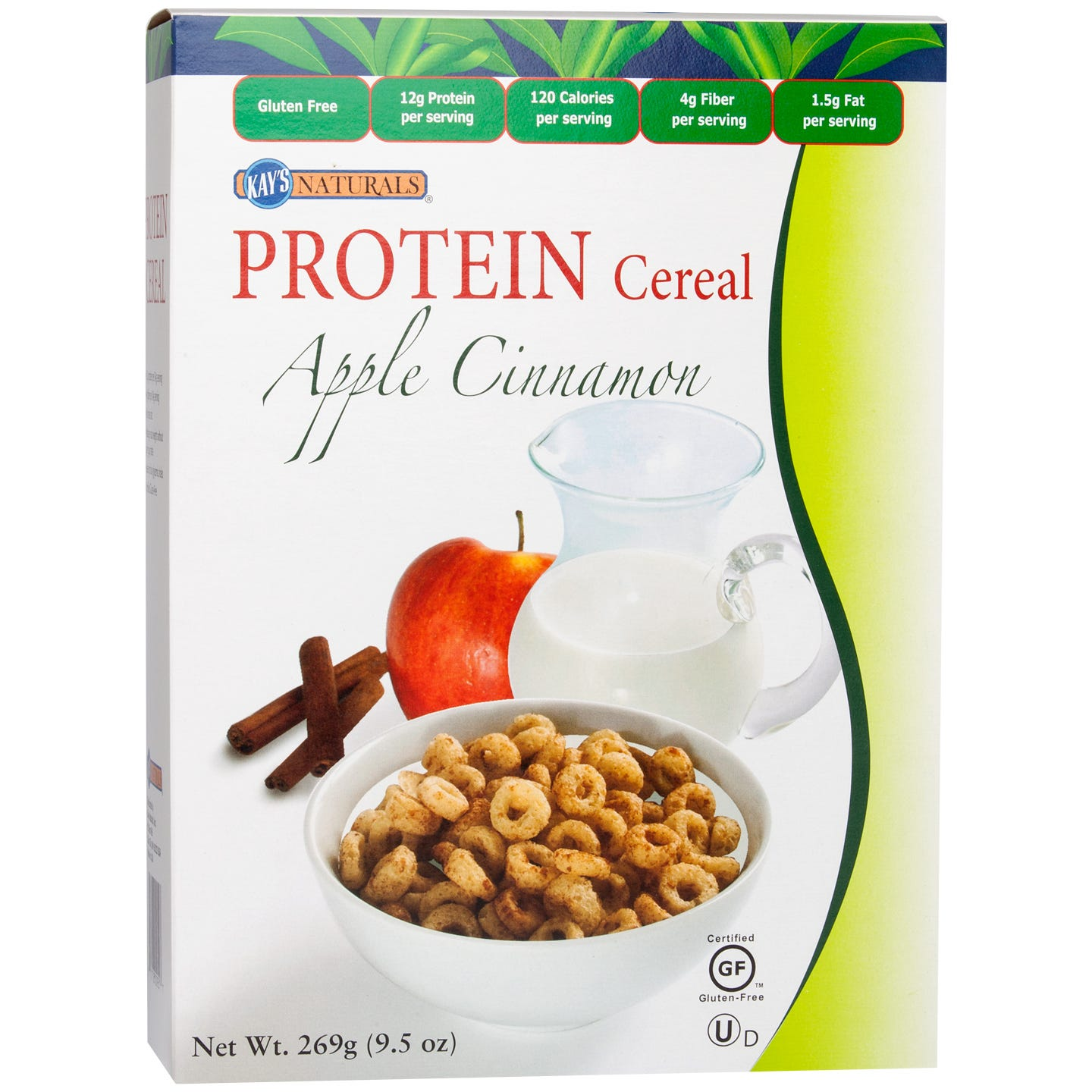 Protein Cereal Apple Cinnamon 9.5 oz, Kay's Naturals - Rapid Diet Weight Loss Products Shop