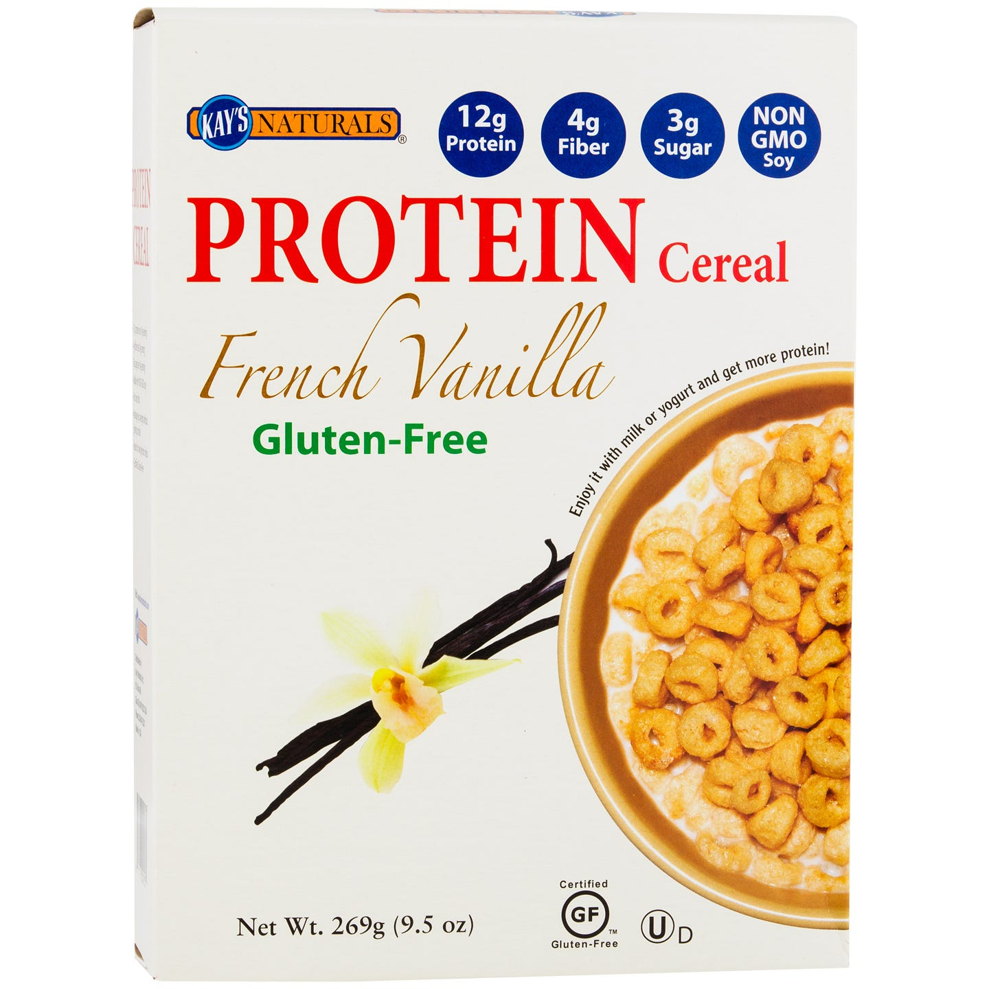 Protein Cereal French Vanilla 9.5 oz, Kay's Naturals - Rapid Diet Weight Loss Products Shop