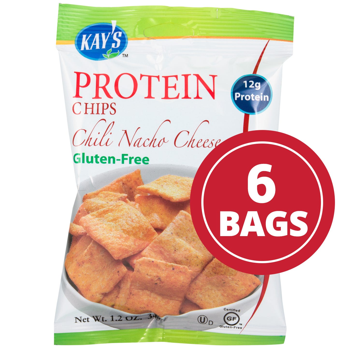 Protein Chips Chili Nacho Cheese (6 ct) - Kay's Naturals