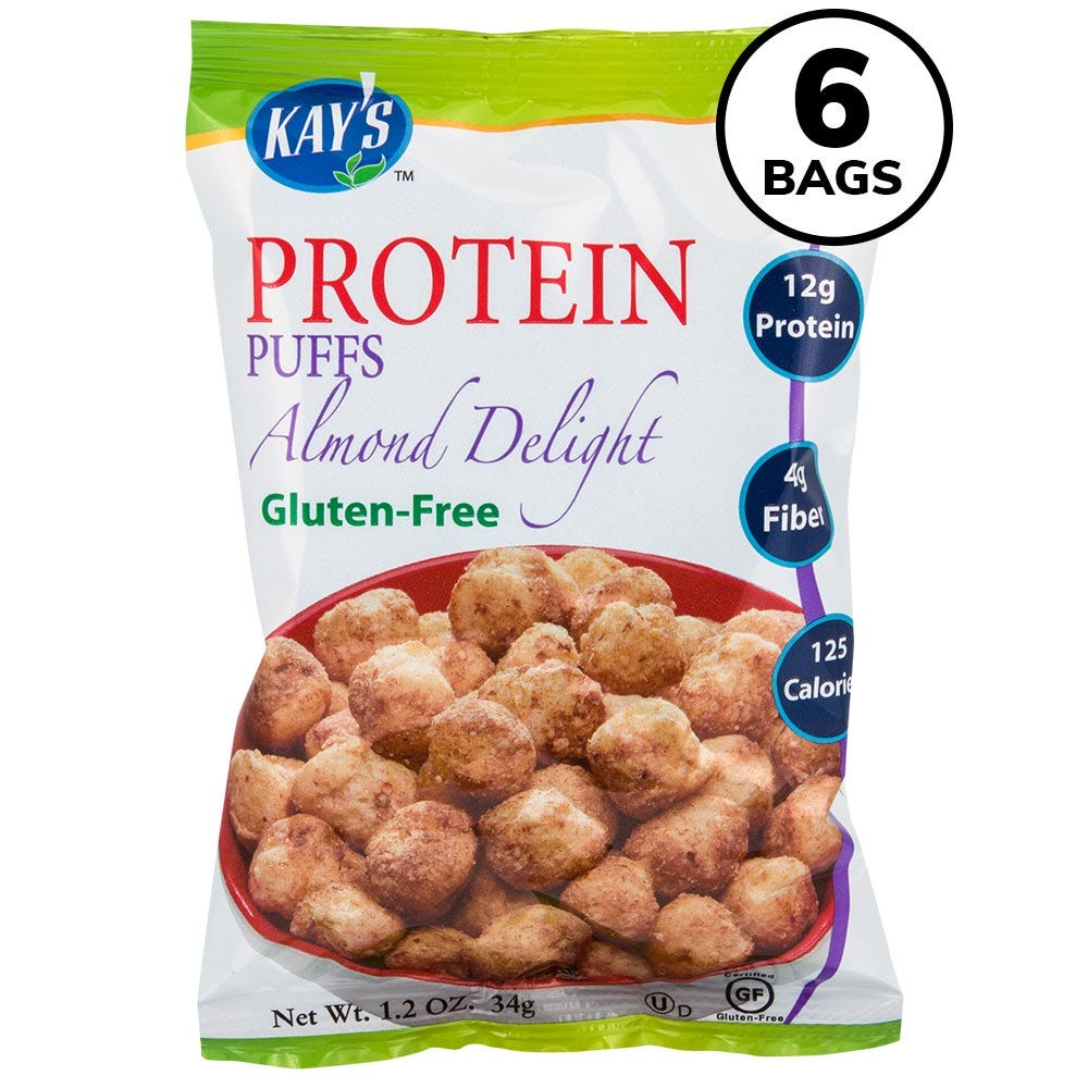 Kay's Protein Puffs, Almond Delight (6ct)
