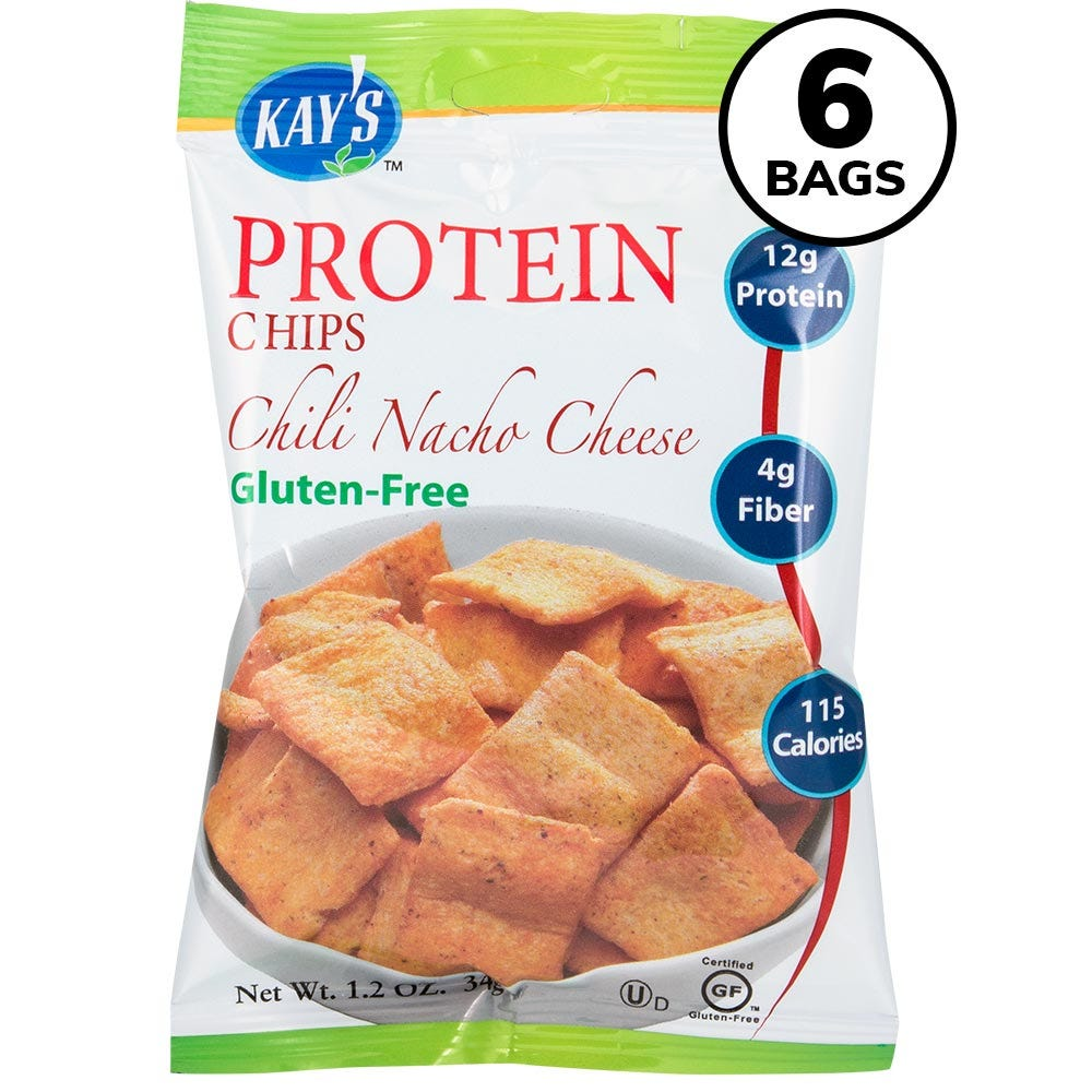 Kay's Protein Chips, Chili Nacho Cheese (6ct)