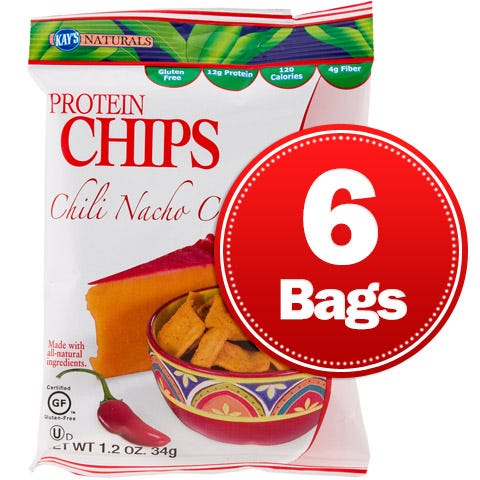 Protein Chips Chili Nacho Cheese (6 ct) - Kay's Naturals - Rapid Diet Weight Loss Products Shop