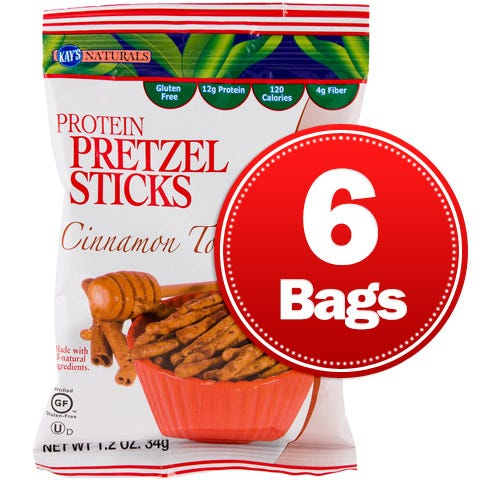 Protein Pretzel Sticks Cinnamon Toast (6 ct) - Kay's Naturals - Rapid Diet Weight Loss Products Shop