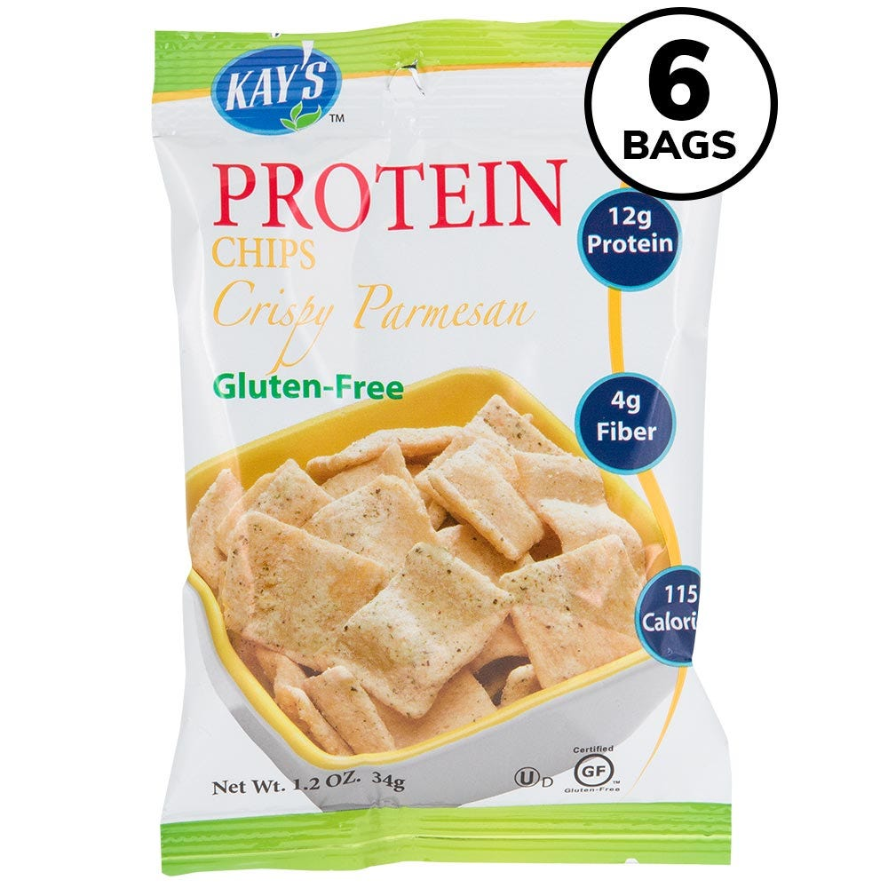 Kay's Protein Chips, Crispy Parmesan (6ct)