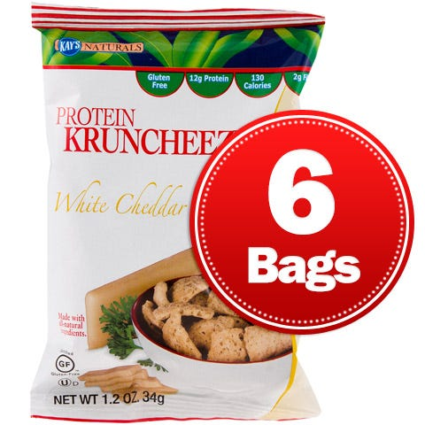 Protein Snacks Cheddar Cheese Kruncheeze (6 ct) - Kay's Naturals - Rapid Diet Weight Loss Products Shop