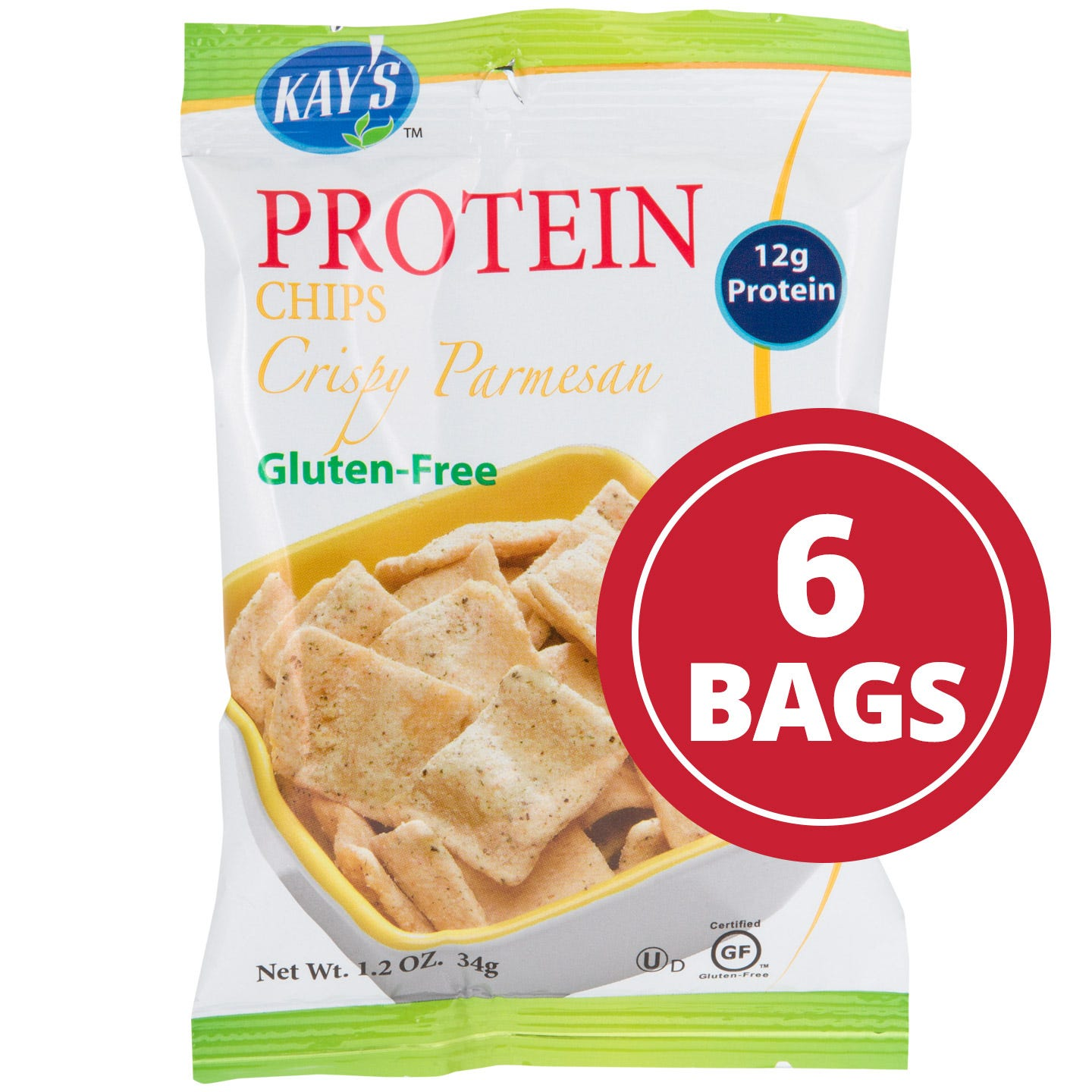 Protein Chips Crispy Parmesan (6 ct) – Kay's Naturals