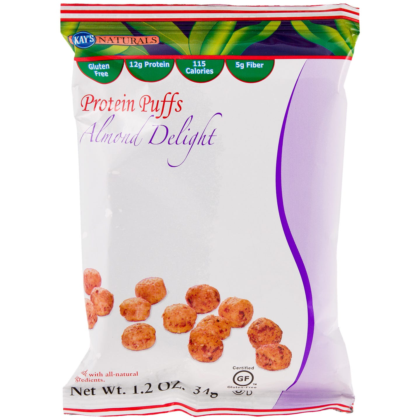 Kay's Naturals Protein Snacks - Almond Delight Puffs