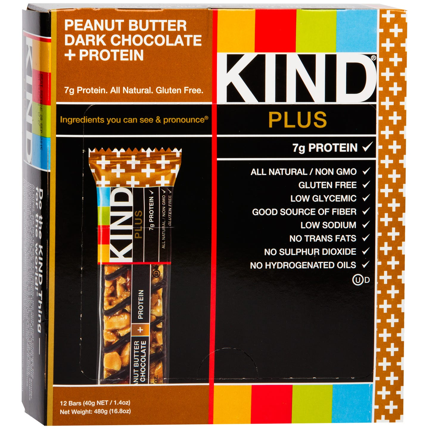 Kind Plus Protein Bars Peanut Butter Dark Chocolate (12 ct) - Rapid Diet Weight Loss Products Shop