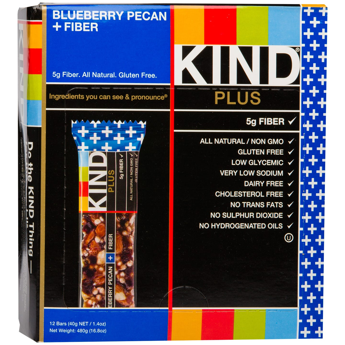 Kind Plus Fiber Bar Blueberry Pecan (12 ct) - Rapid Diet Weight Loss Products Shop