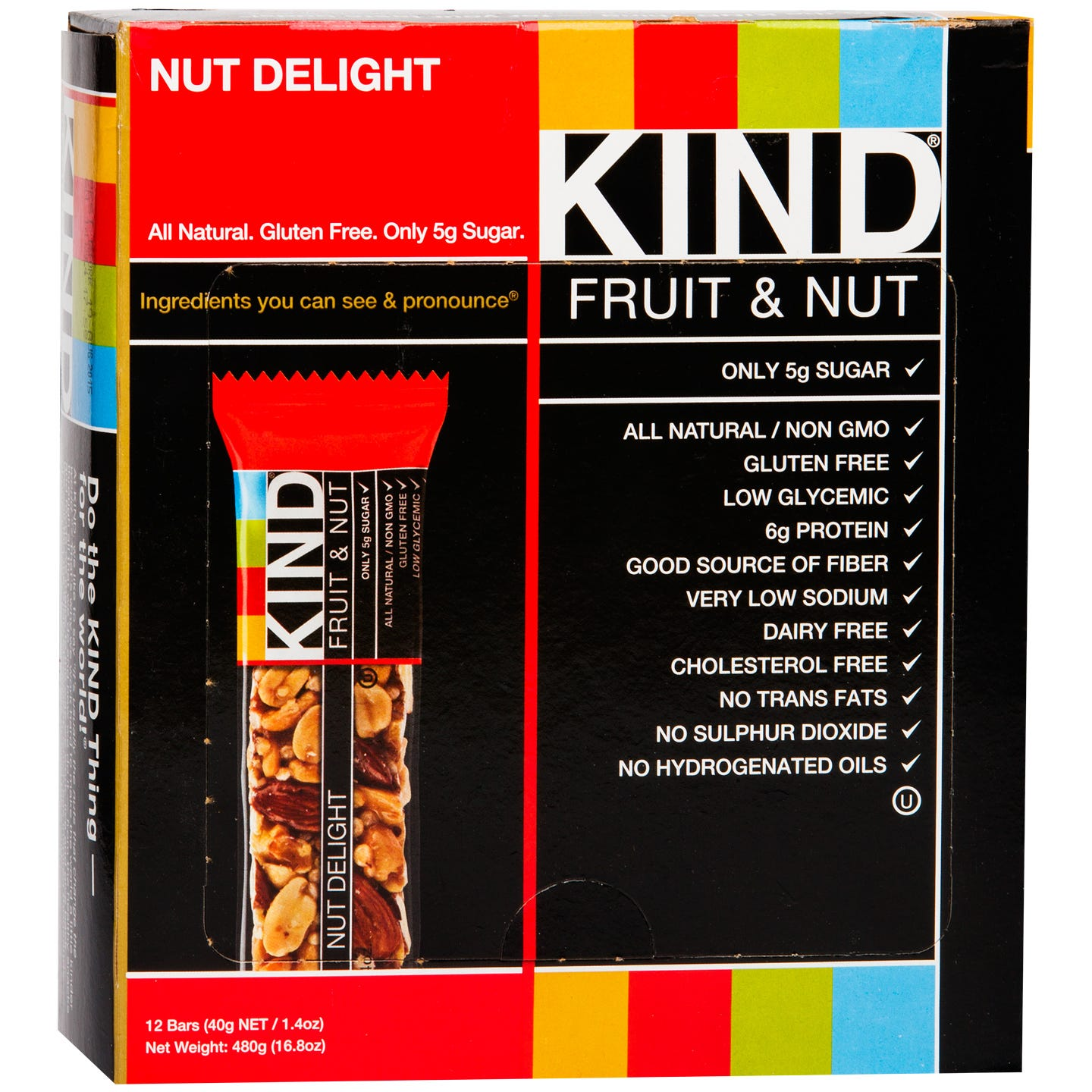 Kind Fruit & Nut Bar Nut Delight (12 ct) - Rapid Diet Weight Loss Products Shop