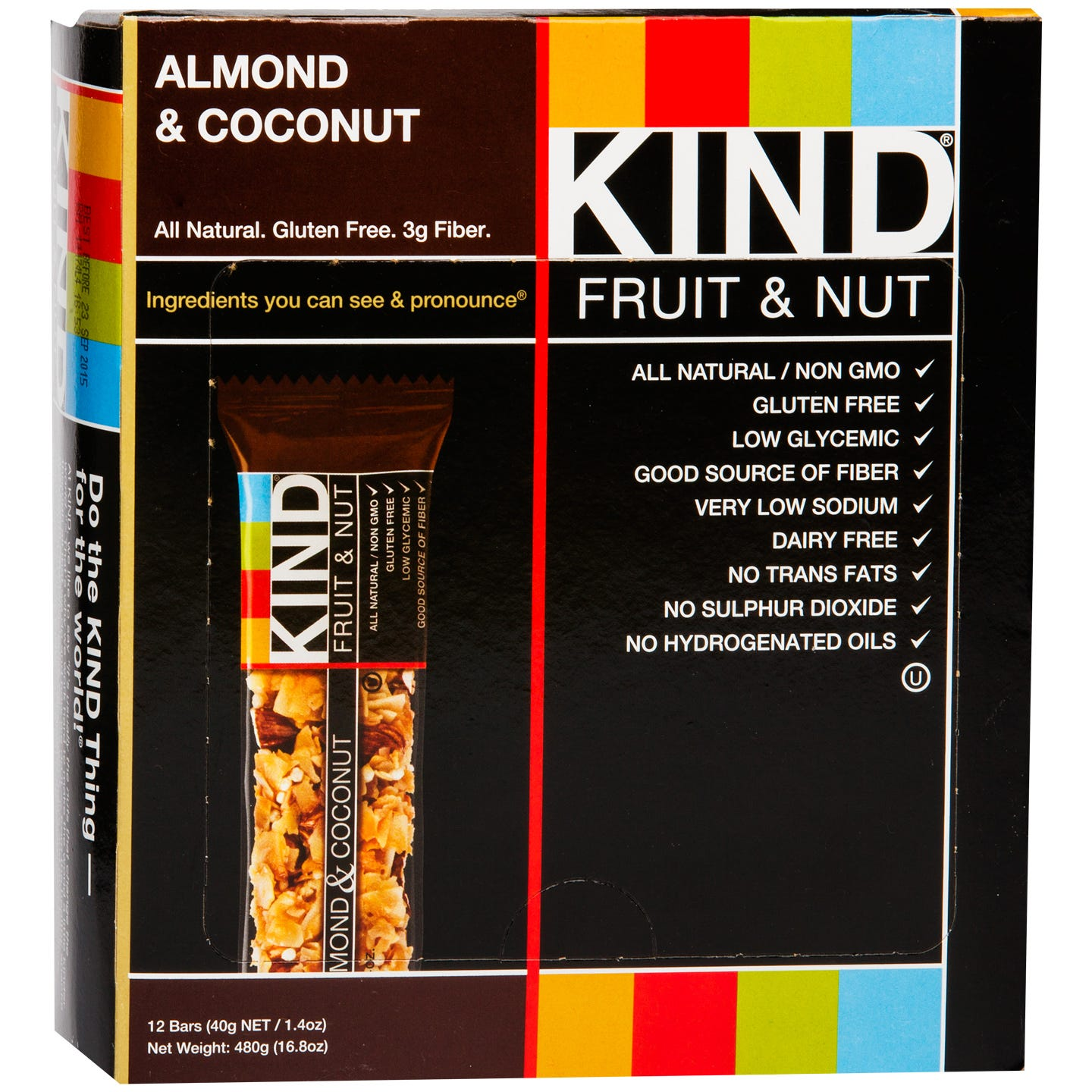 Kind Fruit & Nut Bar Almond & Coconut (12 ct) - Rapid Diet Weight Loss Products Shop