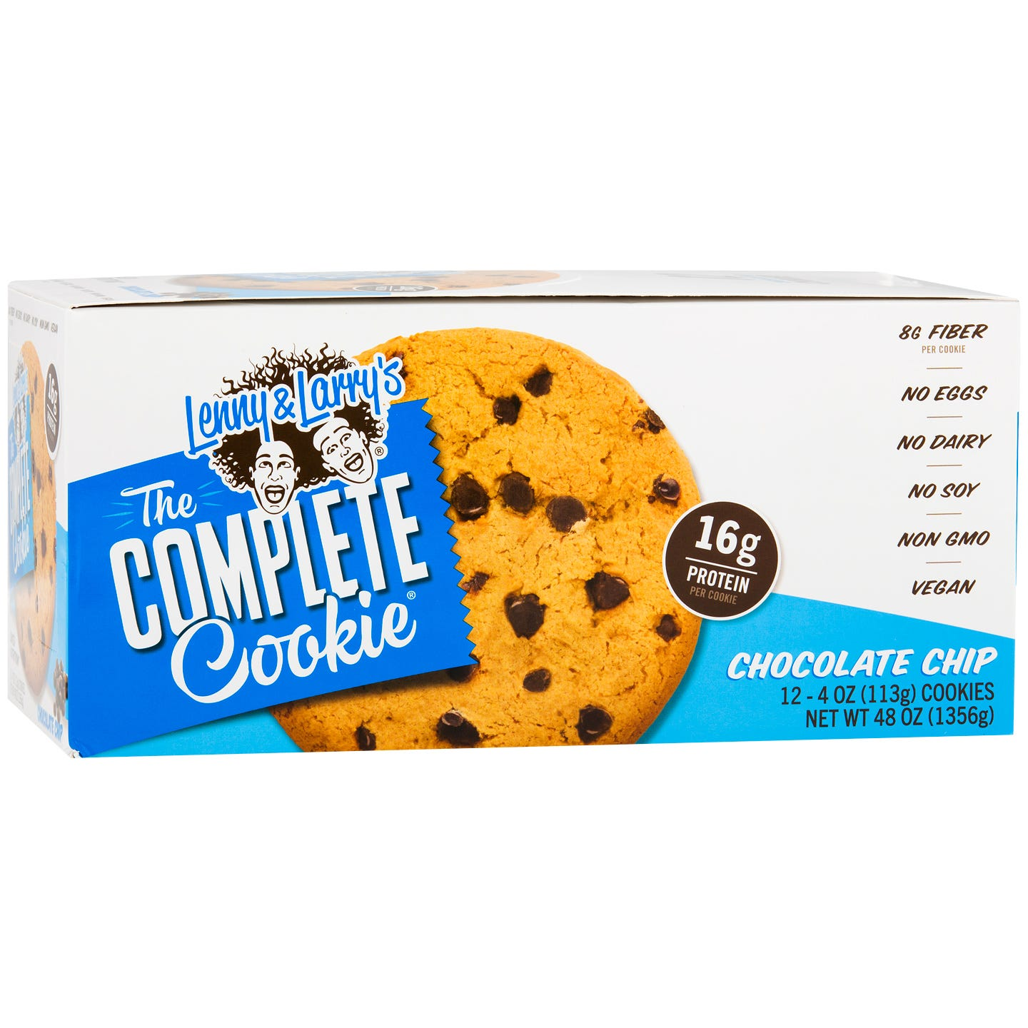 The Vegan Complete Cookie Chocolate Chip (12 ct) - Lenny & Larry's - Rapid Diet Weight Loss Products Shop
