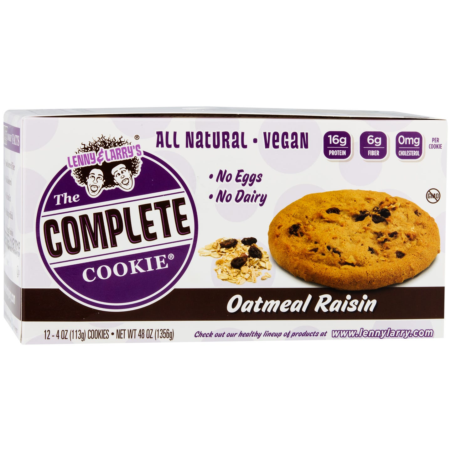 The Vegan Complete Cookie Oatmeal Raisin (12 ct) - Lenny & Larry's - Rapid Diet Weight Loss Products Shop