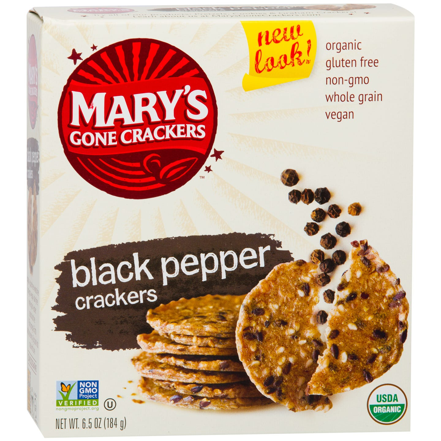 Gluten Free Crackers Black Pepper 6.5 oz, Mary's Gone Crackers - Rapid Diet Weight Loss Products Shop