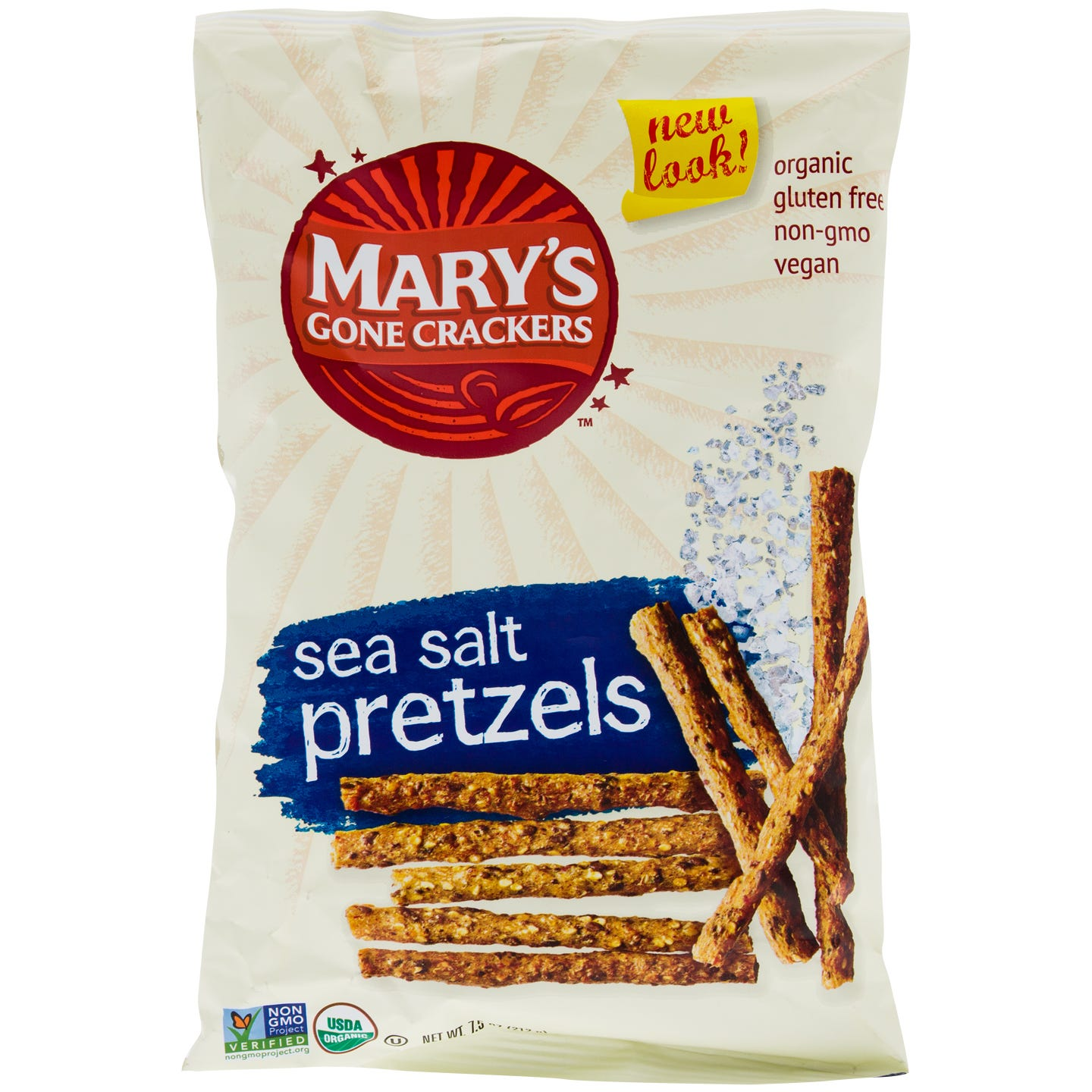 Gluten Free Pretzels Sea Salt 7.5 oz, Mary's Gone Crackers - Rapid Diet Weight Loss Products Shop