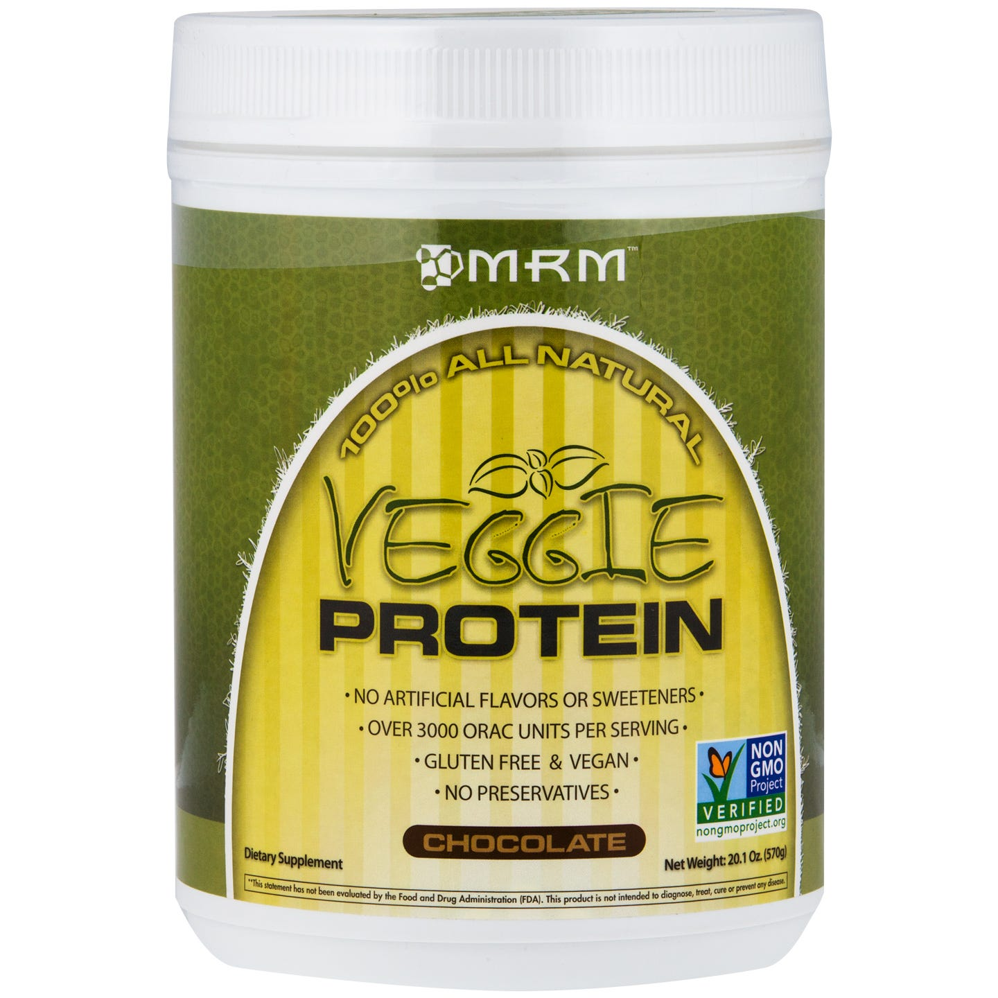 Veggie Protein Chocolate 20.1oz, MRM - Rapid Diet Weight Loss Products Shop