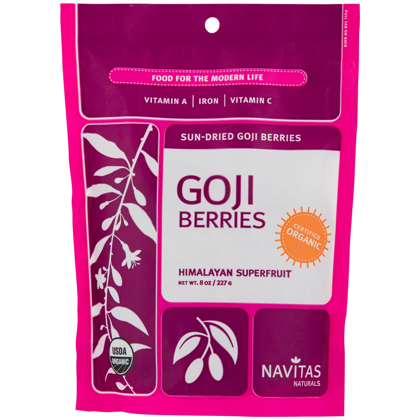 Goji Berries 8 oz, Navitas Naturals - Rapid Diet Weight Loss Products Shop