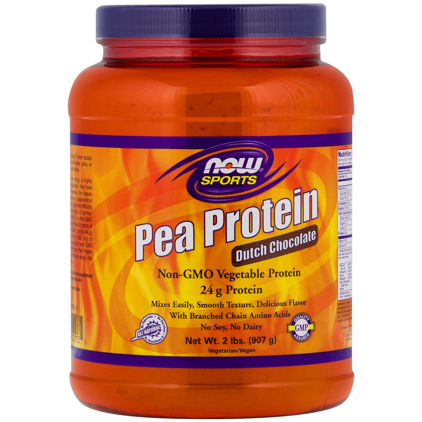 Sports Pea Protein Chocolate 2lb, NOW Foods - Rapid Diet Weight Loss Products Shop