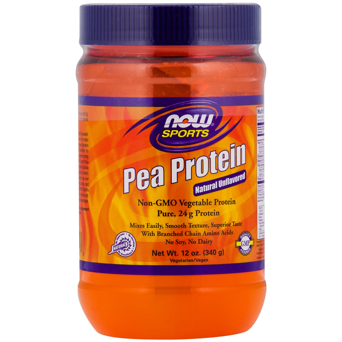 Sports Pea Protein Unflavored 12oz, NOW Foods - Rapid Diet Weight Loss Products Shop