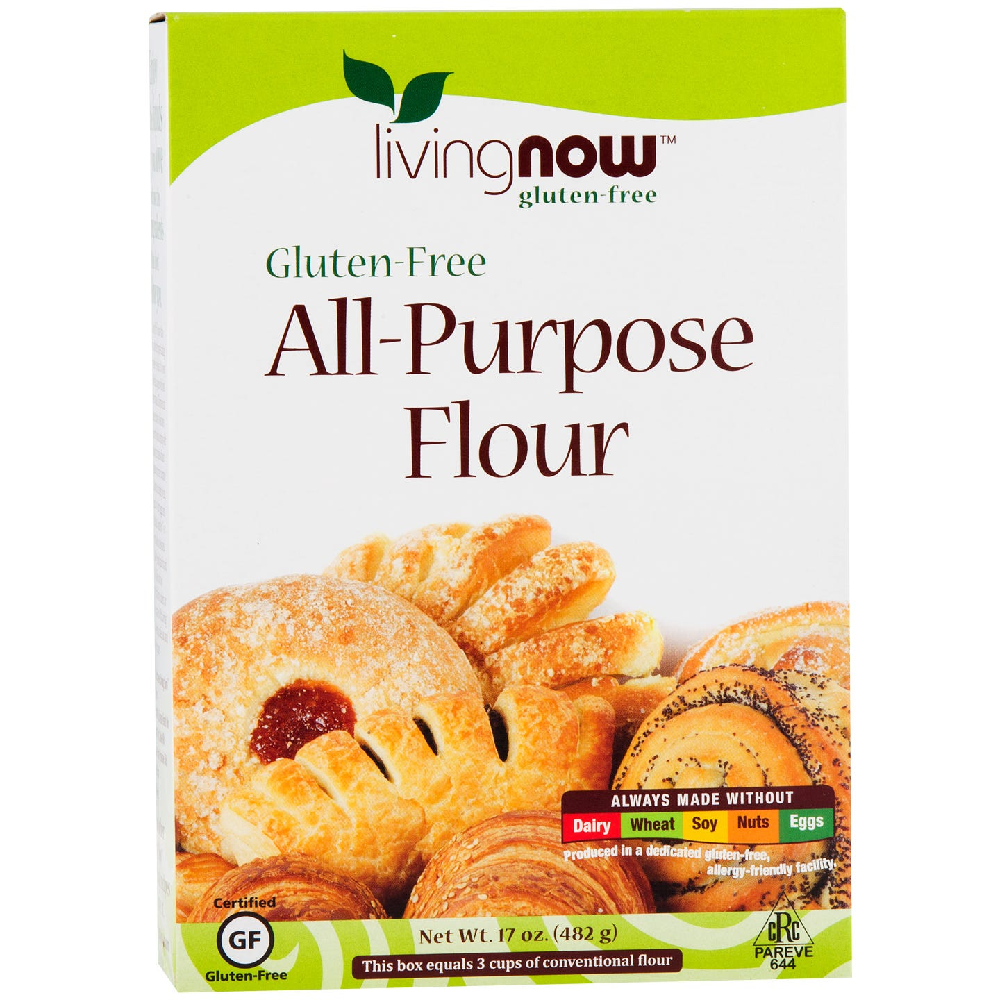Living Now Gluten Free All Purpose Flour 17oz, NOW Foods - Rapid Diet Weight Loss Products Shop