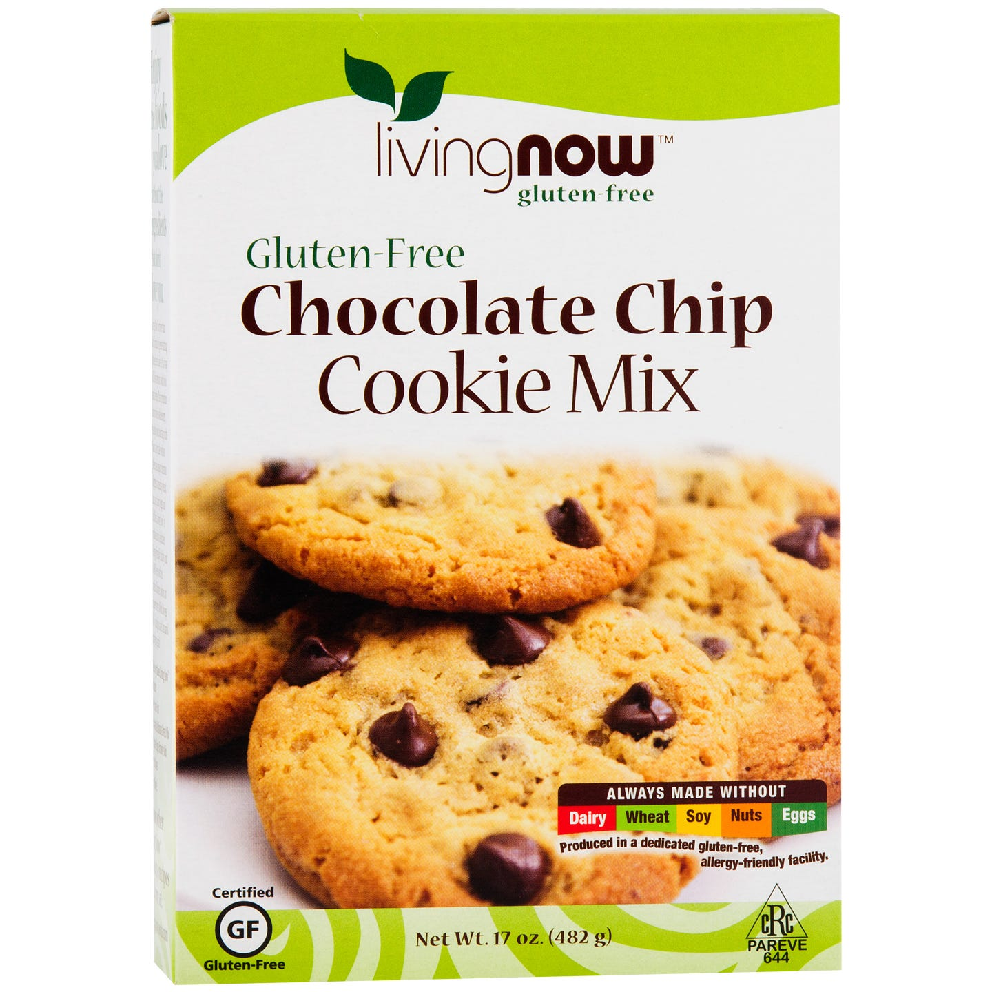 Living Now Gluten Free Cookie Mix Chocolate Chip 17oz, NOW Foods - Rapid Diet Weight Loss Products Shop