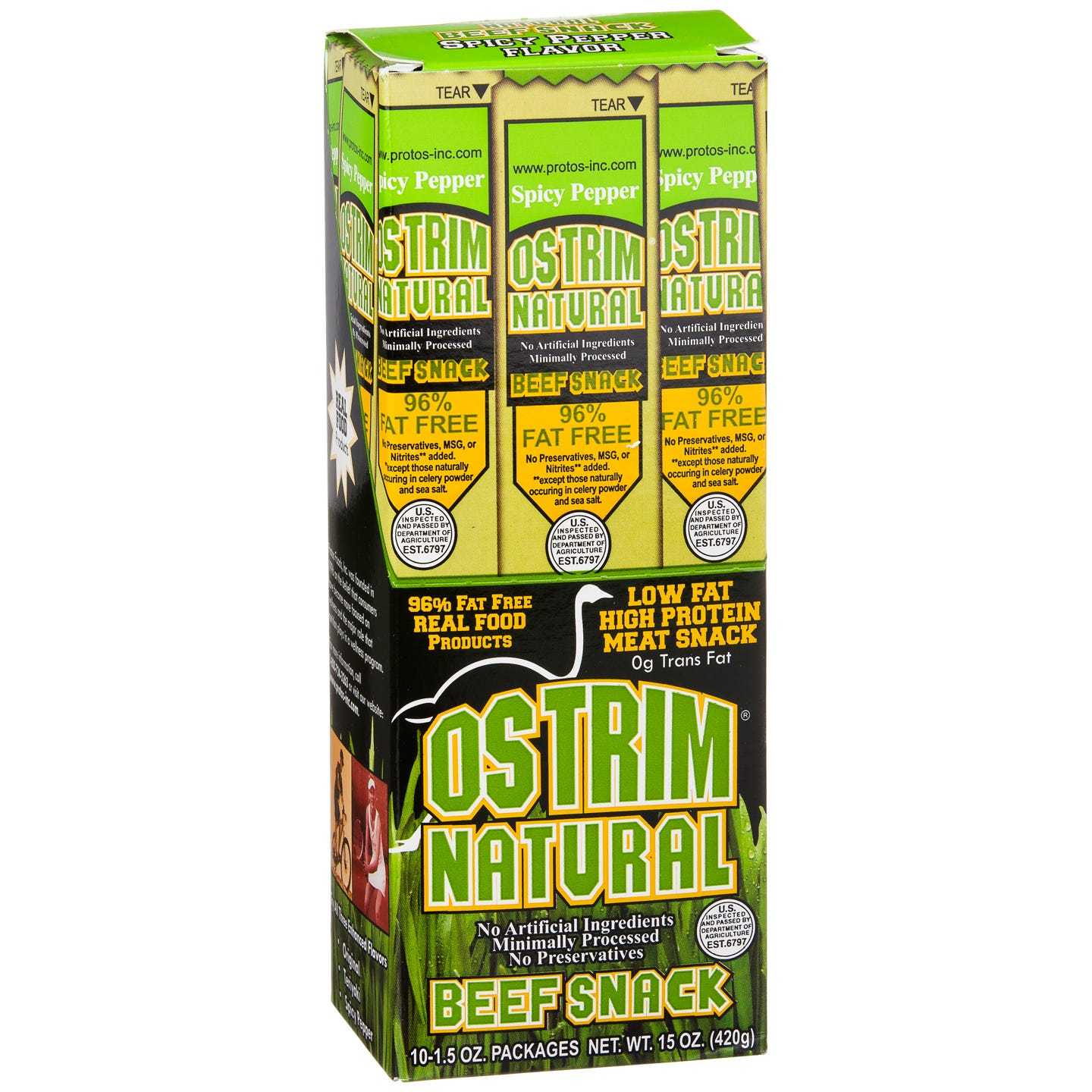 OSTRIM Natural Beef Sticks - Spicy Pepper
