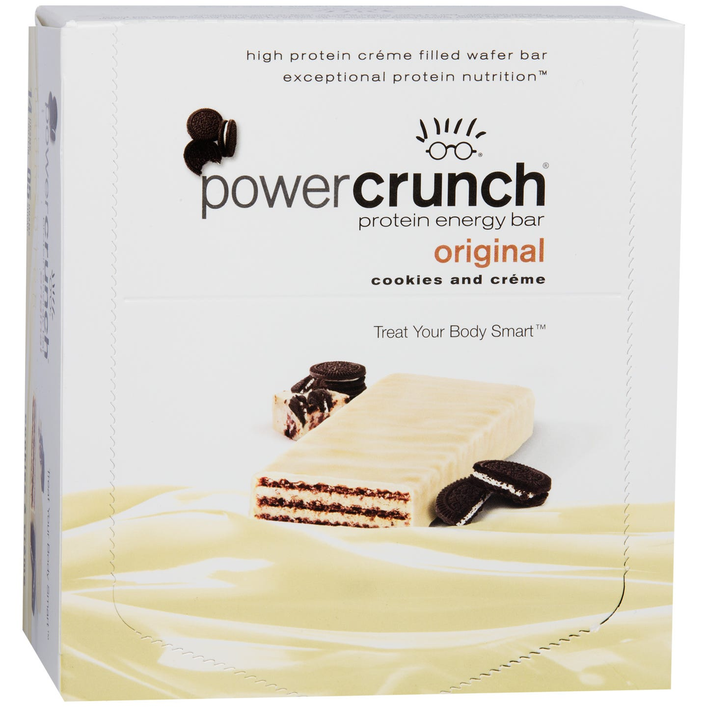 Protein Energy Bar Cookies & Creme (12 ct) - Power Crunch - Rapid Diet Weight Loss Products Shop