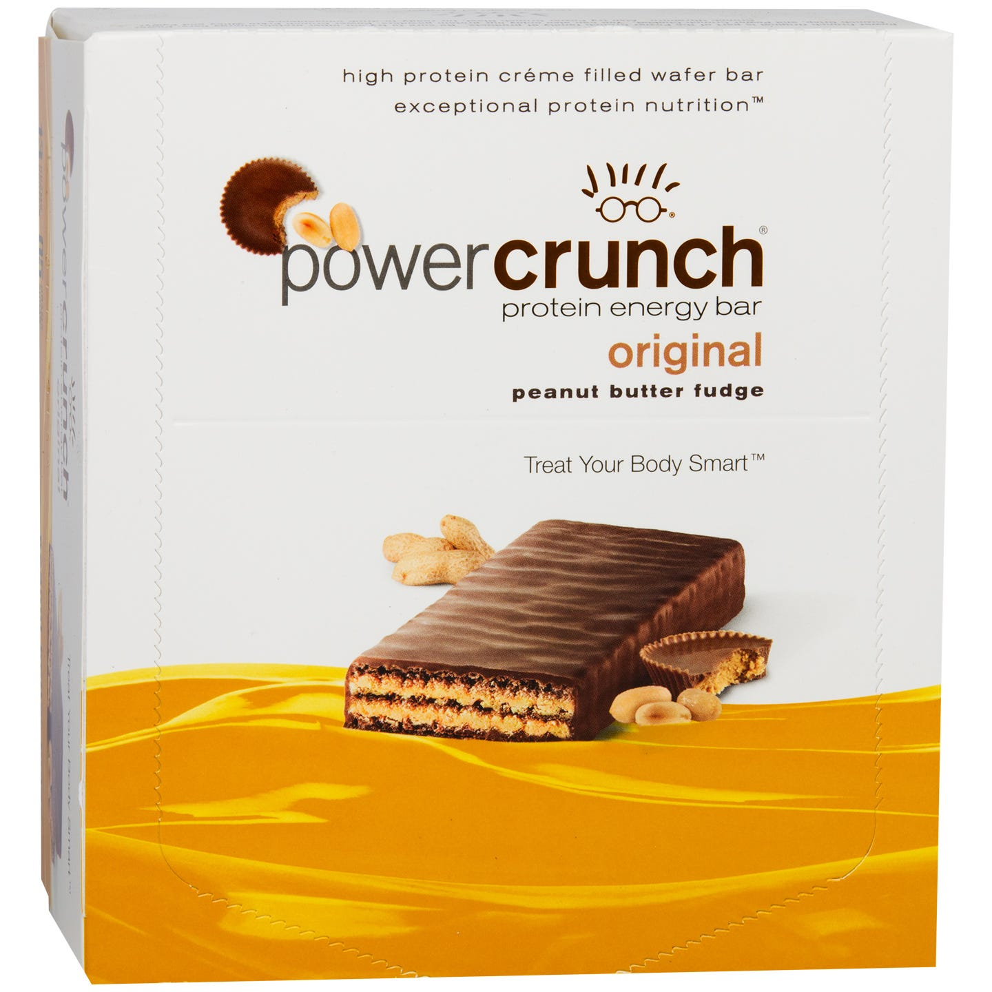 Protein Energy Bar Peanut Butter Fudge (12 ct) - Power Crunch - Rapid Diet Weight Loss Products Shop