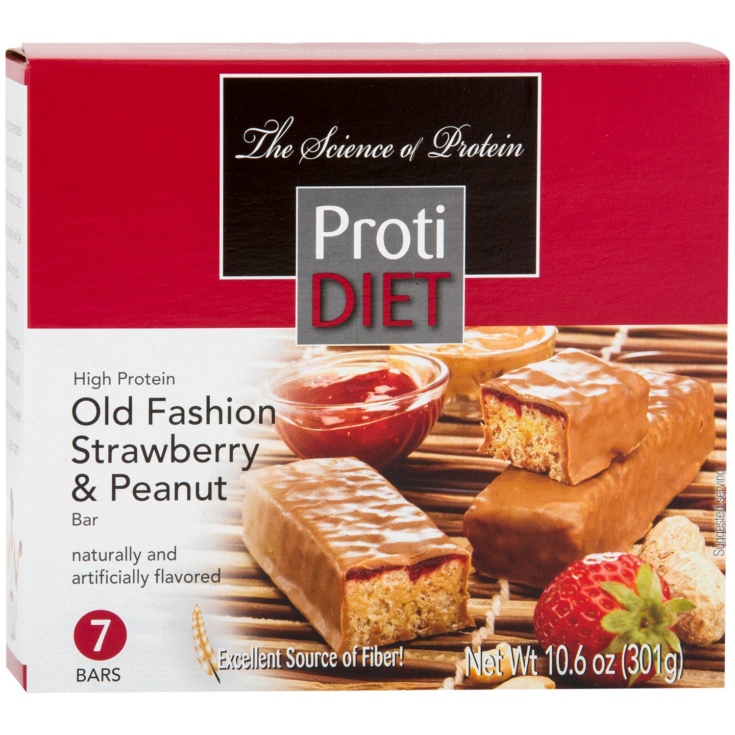 Protein Bars Strawberry & Peanuts (7 ct) - ProtiDiet - Rapid Diet Weight Loss Products Shop