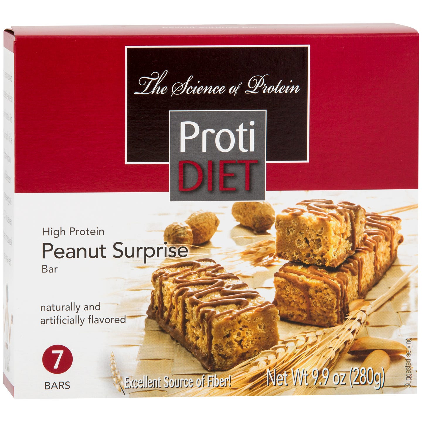 Protein Bars Peanuts Surprise (7 ct) - ProtiDiet - Rapid Diet Weight Loss Products Shop