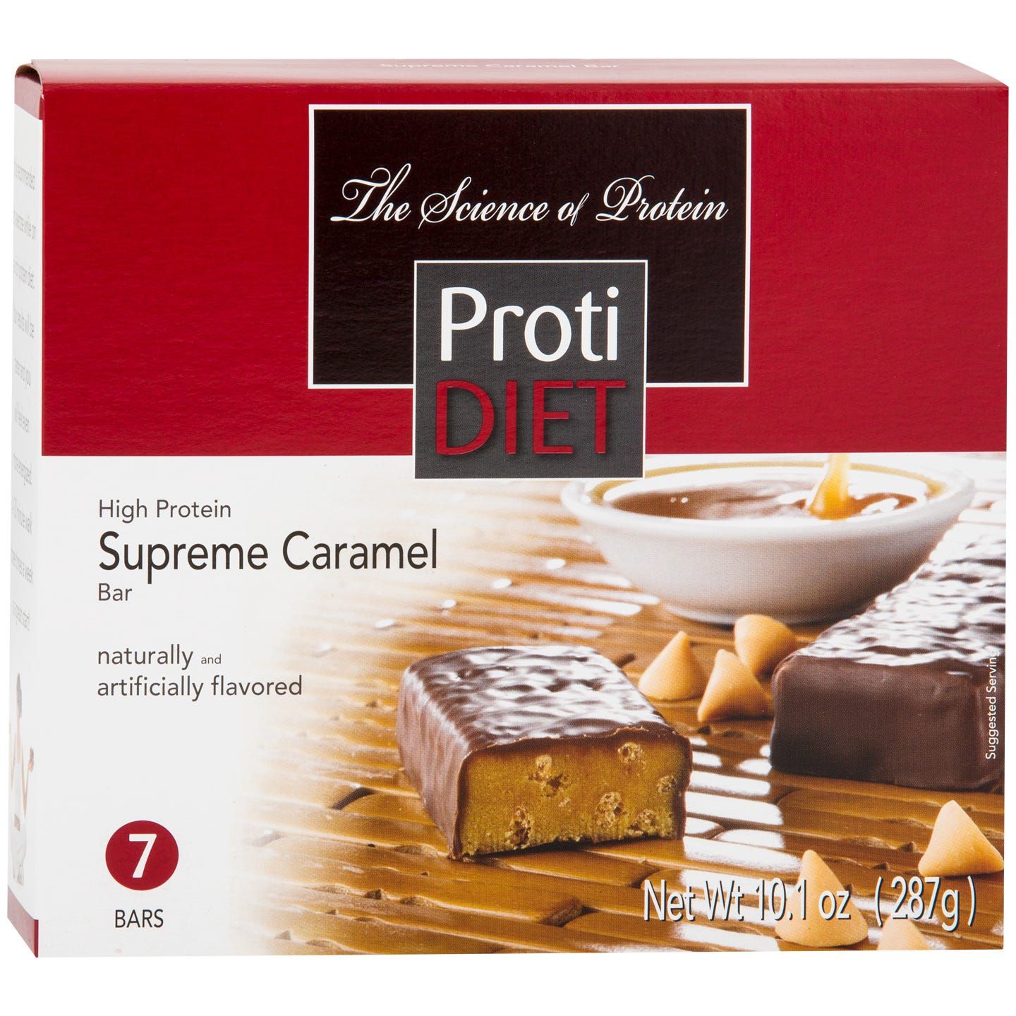Protein Bars Caramel (7 ct) - ProtiDiet - Rapid Diet Weight Loss Products Shop