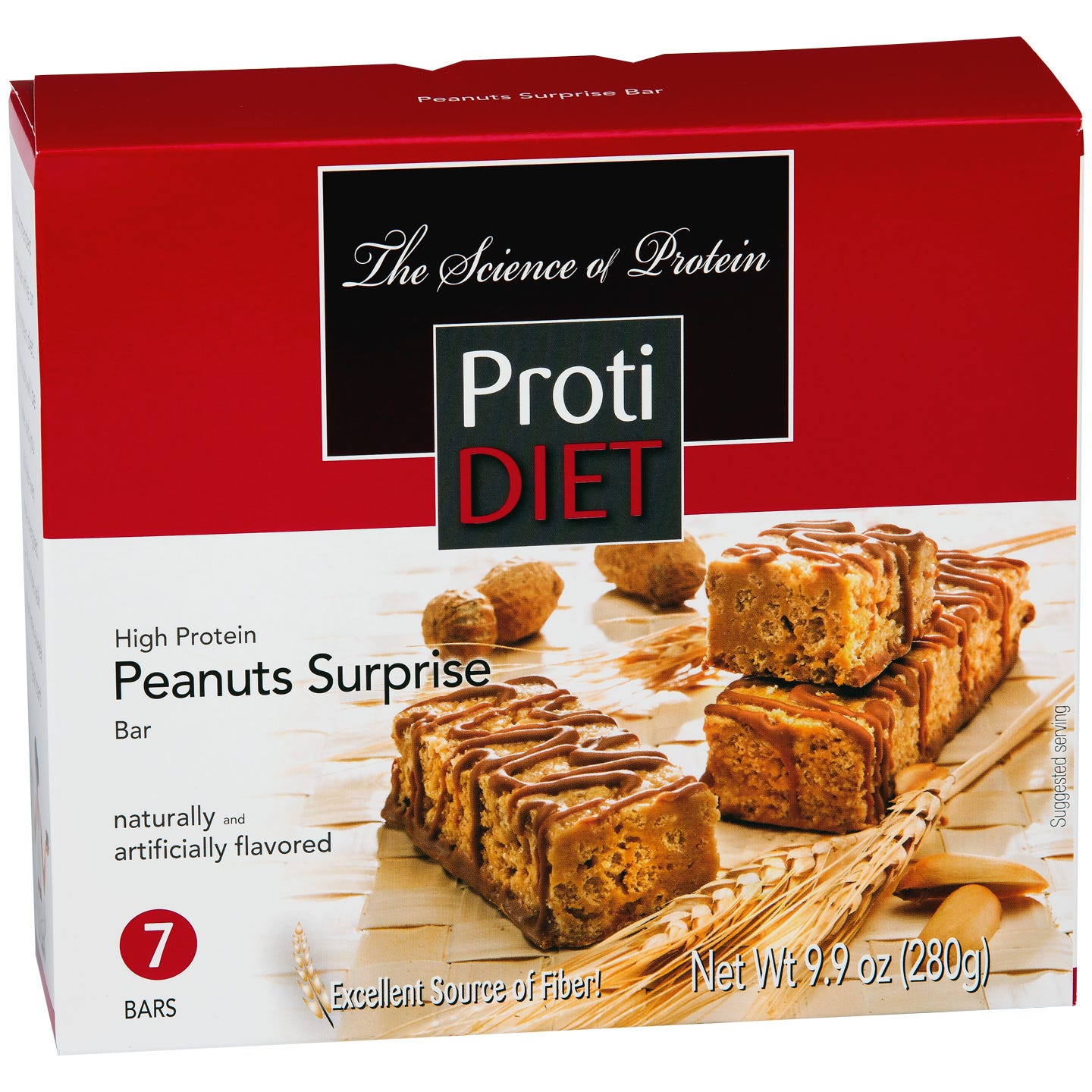 ProtiDiet Protein Bars - Peanut Surprise