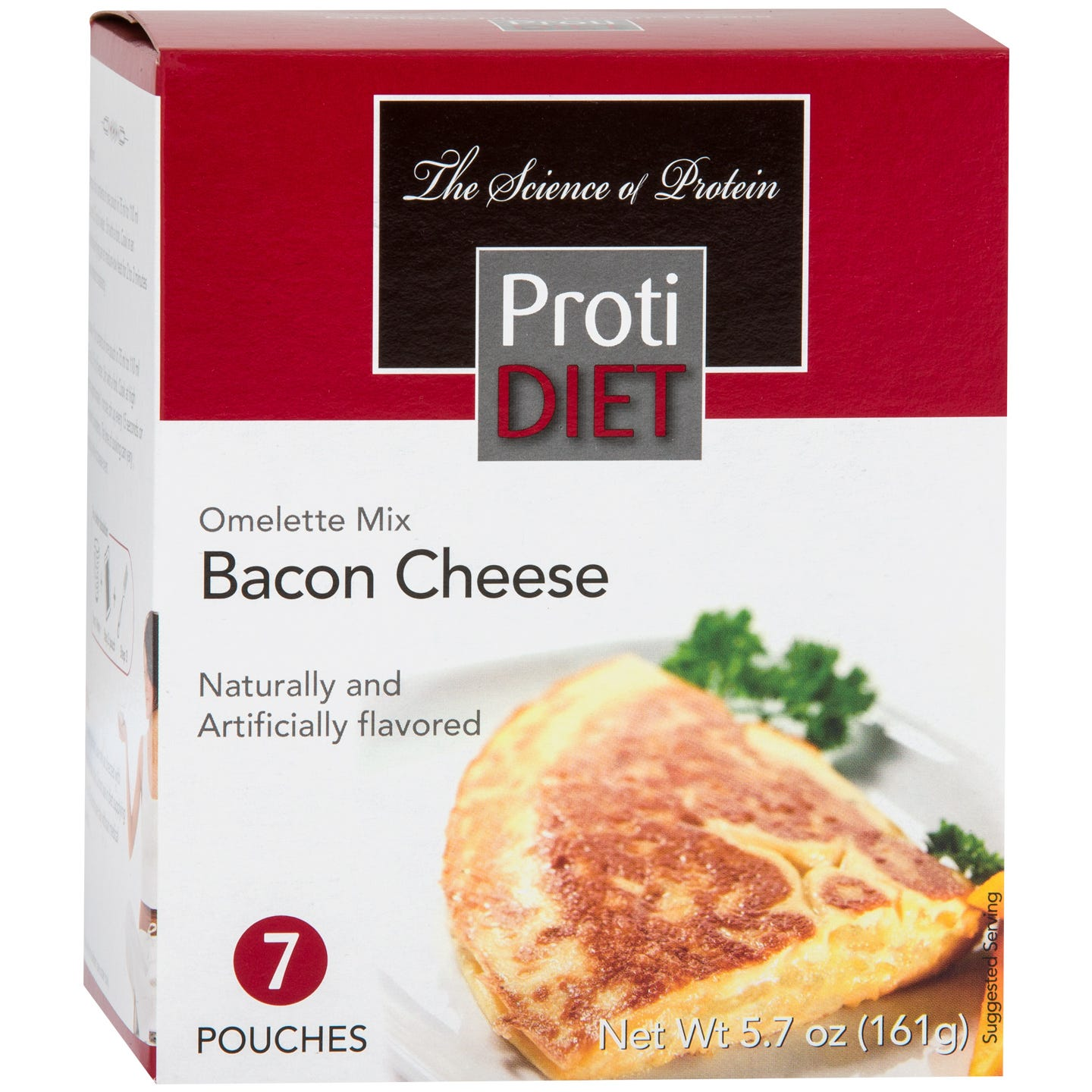 Image of Bacon & Cheese Omelette Mix (7 ct) - ProtiDiet