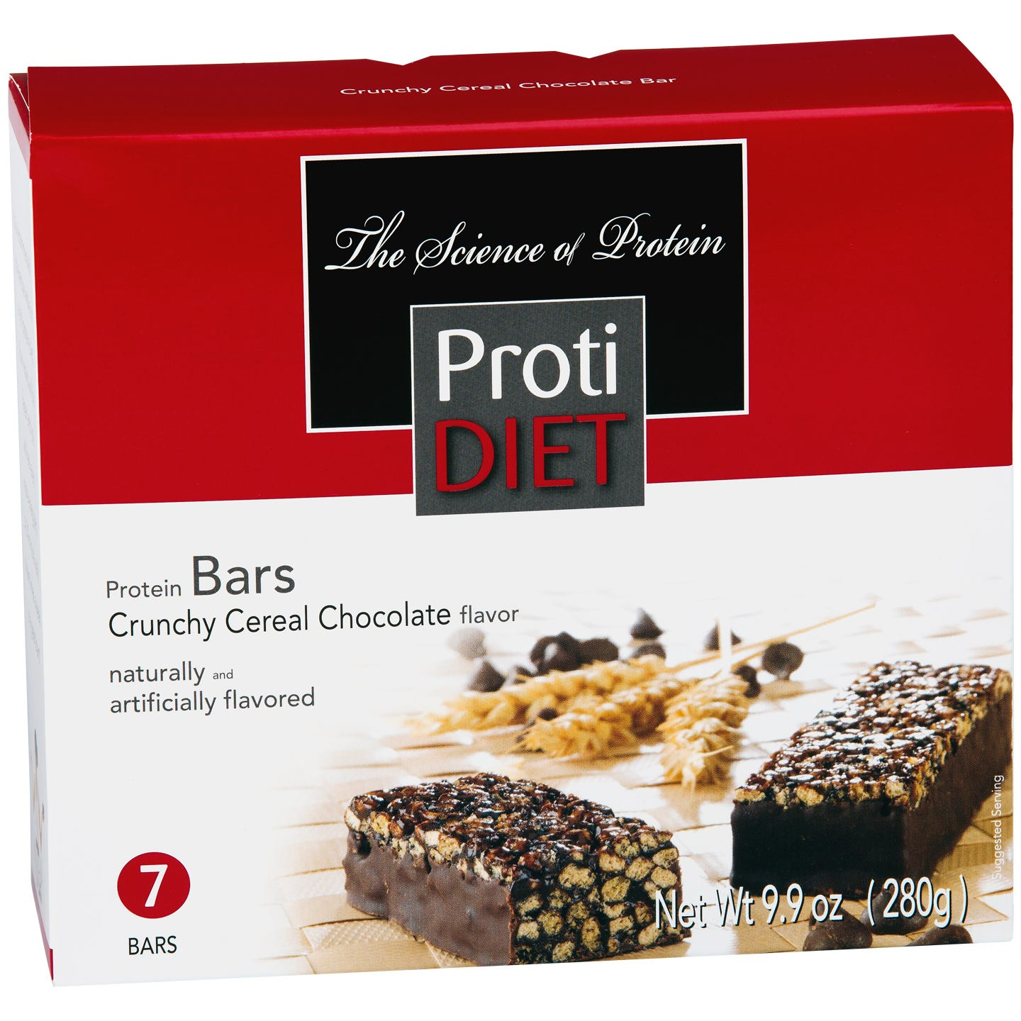 ProtiDiet Crunchy Cereal Protein Bars - Chocolate