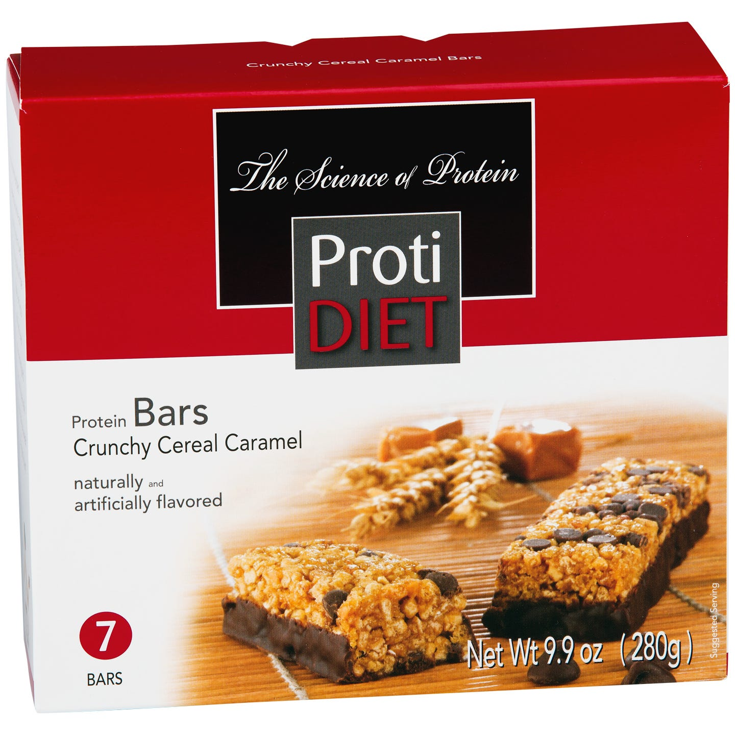 Crunchy Cereal Protein Bars Caramel (7 ct) - ProtiDiet - Rapid Diet Weight Loss Products Shop