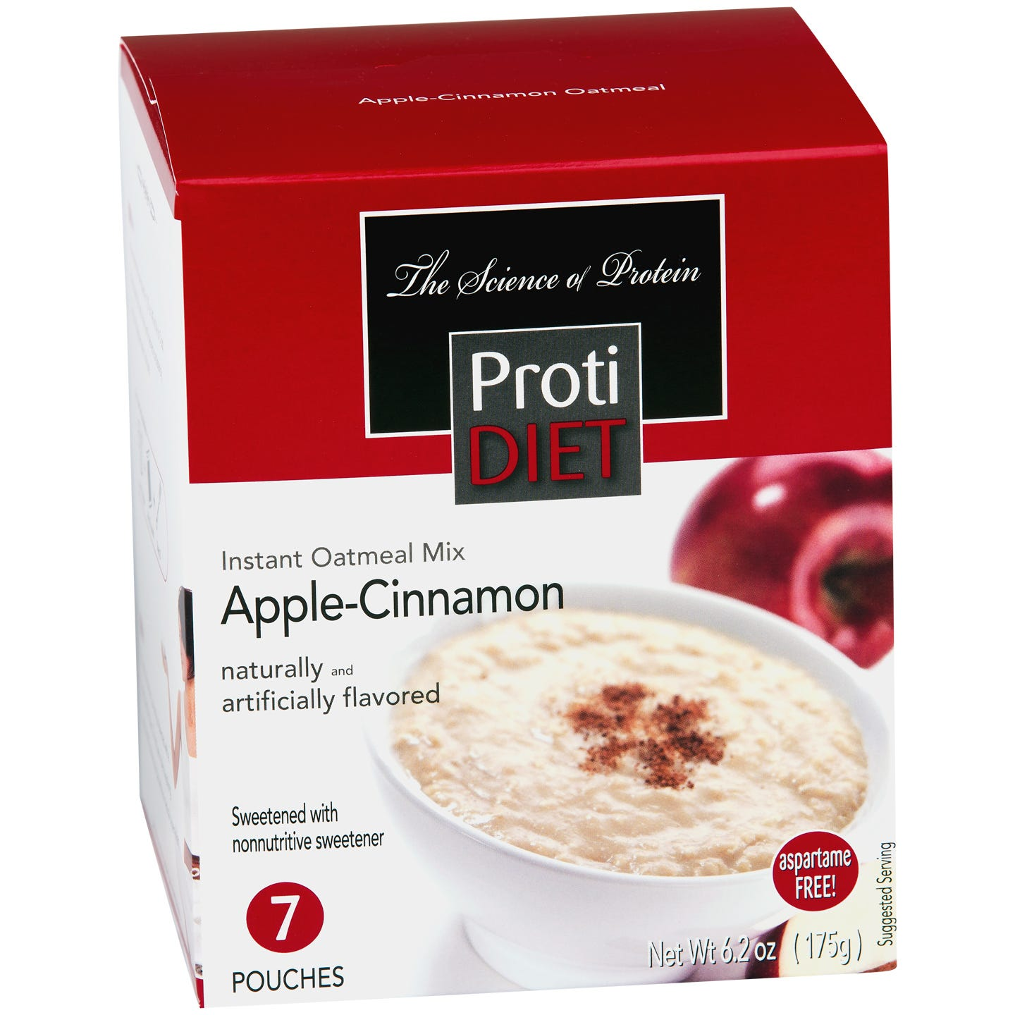 Instant Oatmeal Apple Cinnamon (7 ct) - ProtiDiet - Rapid Diet Weight Loss Products Shop