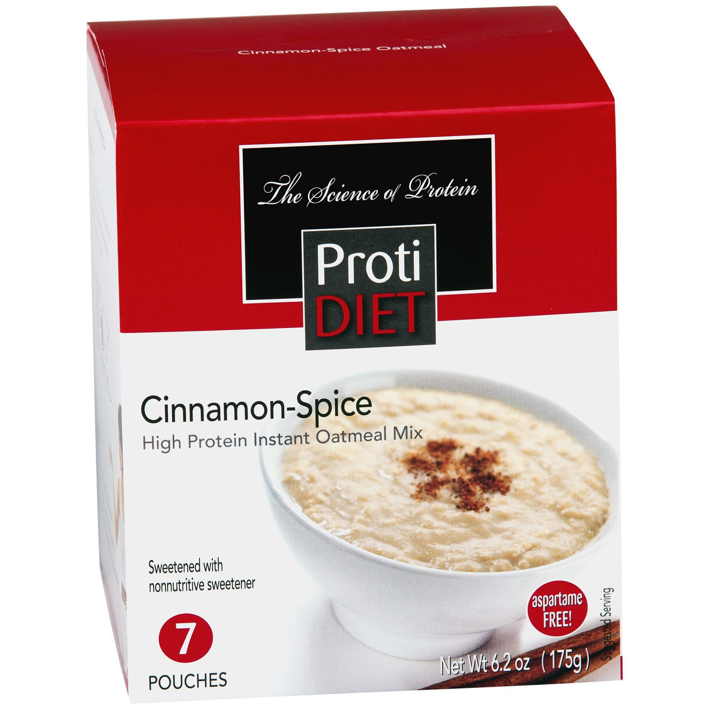 Instant Oatmeal Cinnamon Spice (7 ct) - ProtiDiet - Rapid Diet Weight Loss Products Shop