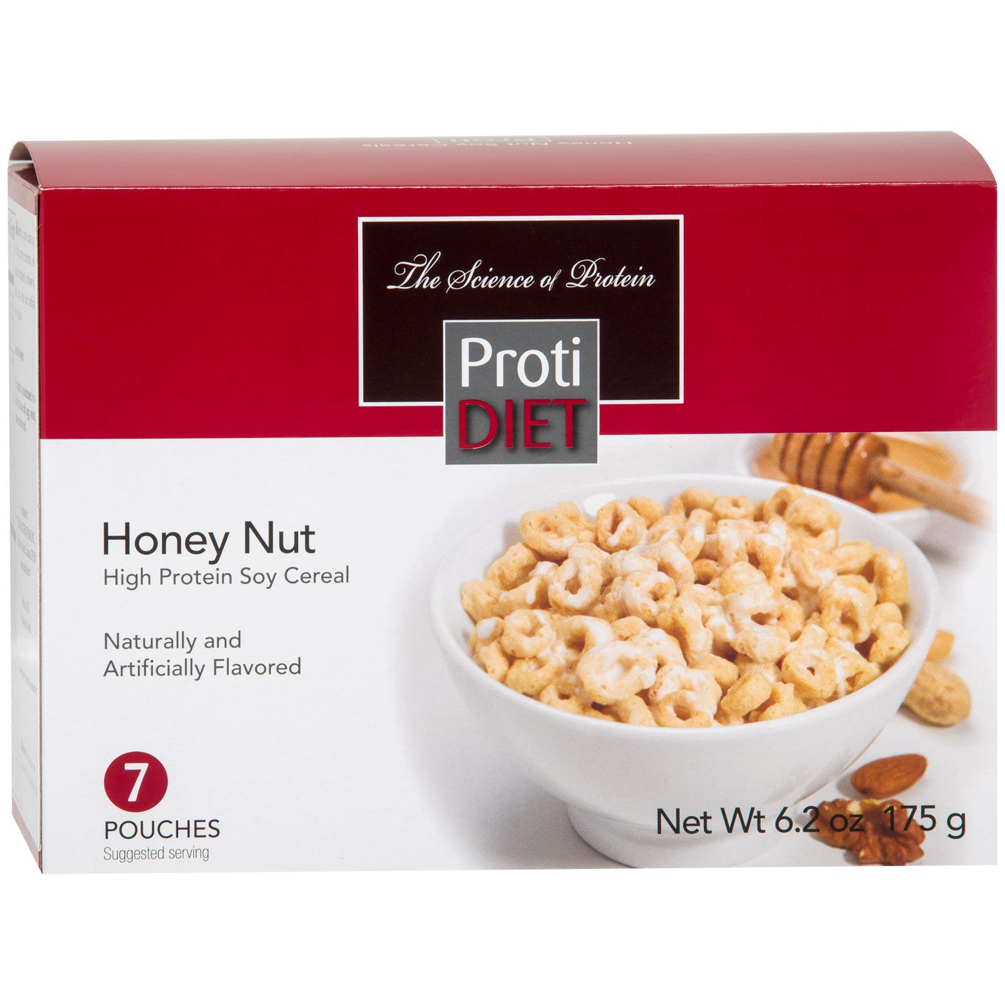 High Protein Soy Cereals Honey Nut (7 Ct) - ProtiDiet