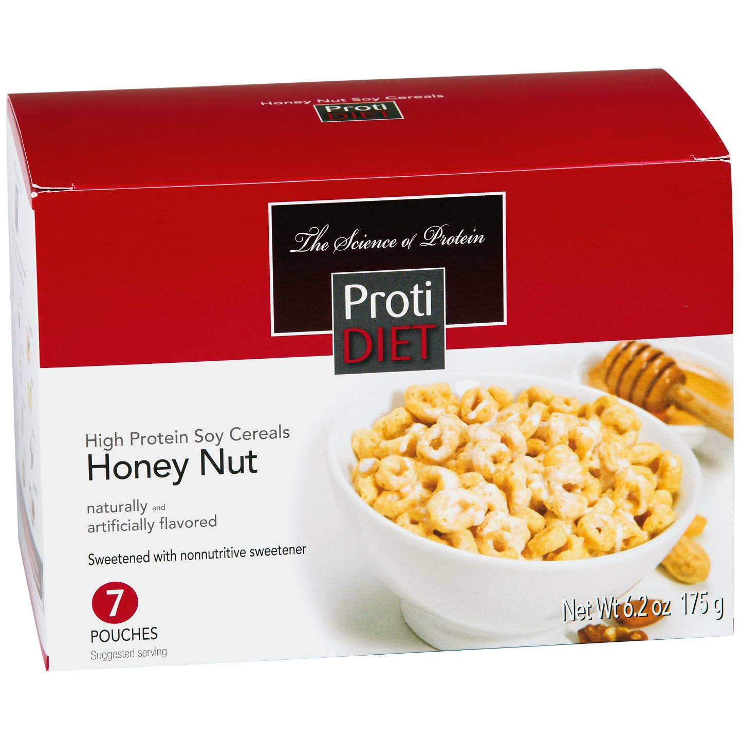 High Protein Soy Cereals Honey Nut (7 ct) - ProtiDiet - Rapid Diet Weight Loss Products Shop