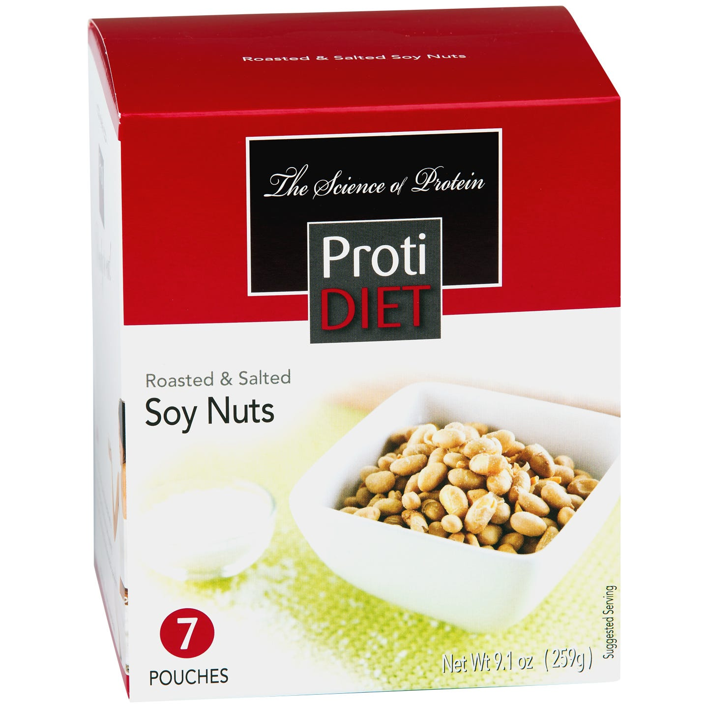 ProtiDiet Roasted & Salted Soy Nuts, (7ct)