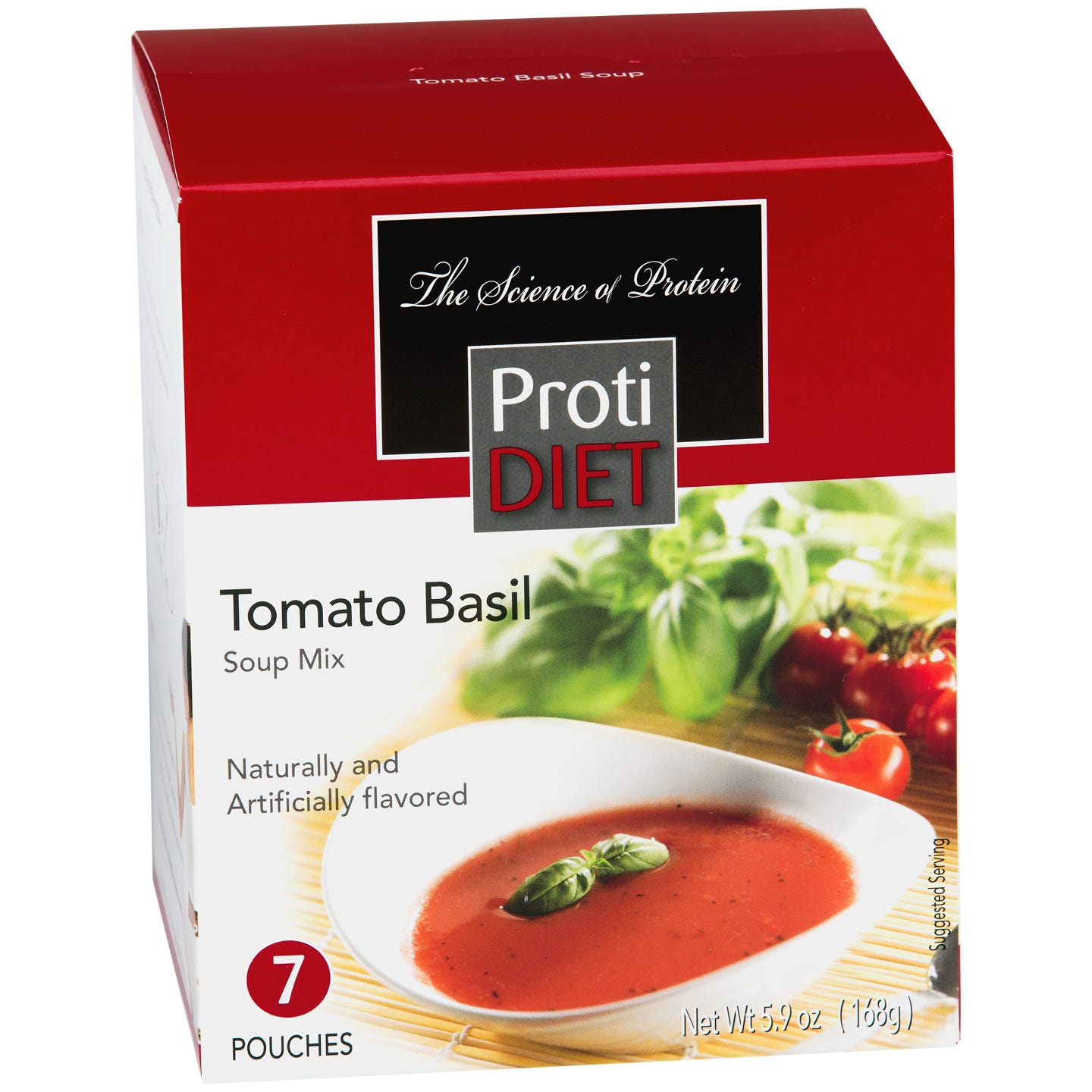 High Protein Soup Mix Tomato Basil (7 ct) - ProtiDiet - Rapid Diet Weight Loss Products Shop