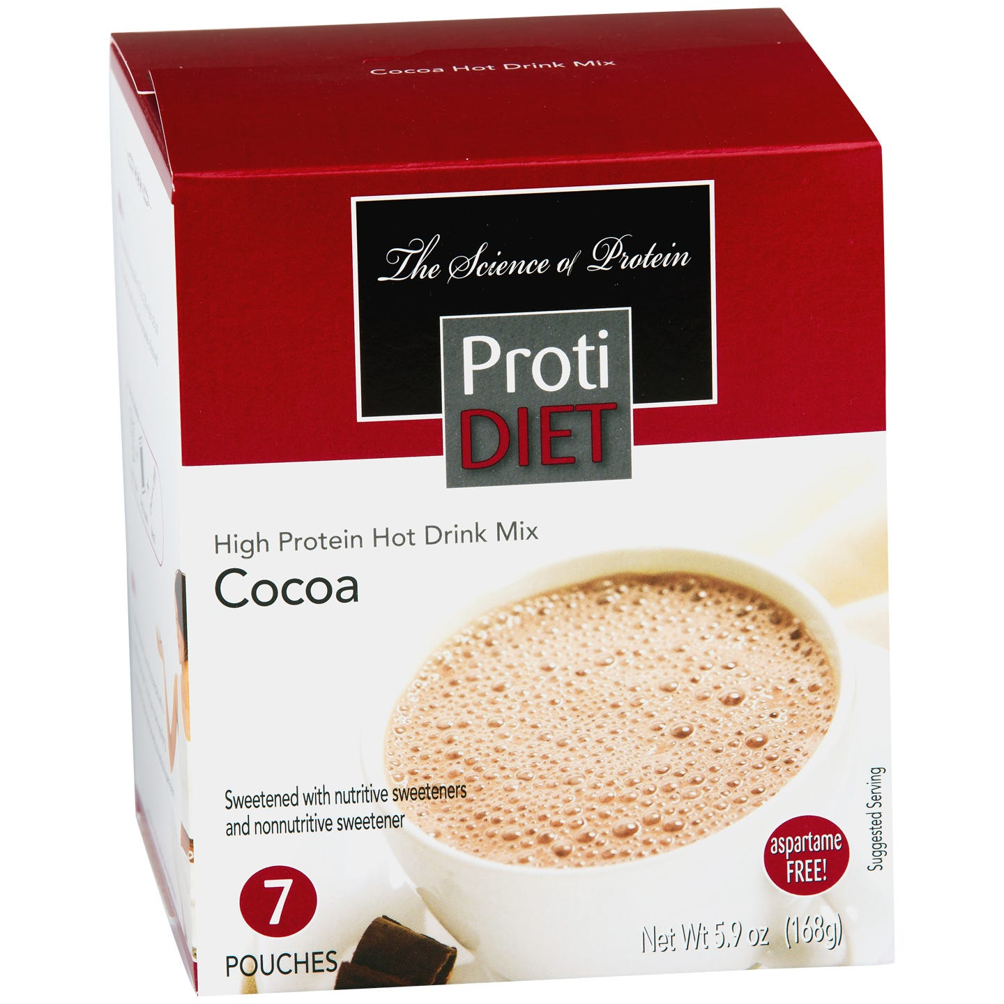 High Protein Hot Cocoa Mix (7 ct) - ProtiDiet - Rapid Diet Weight Loss Products Shop