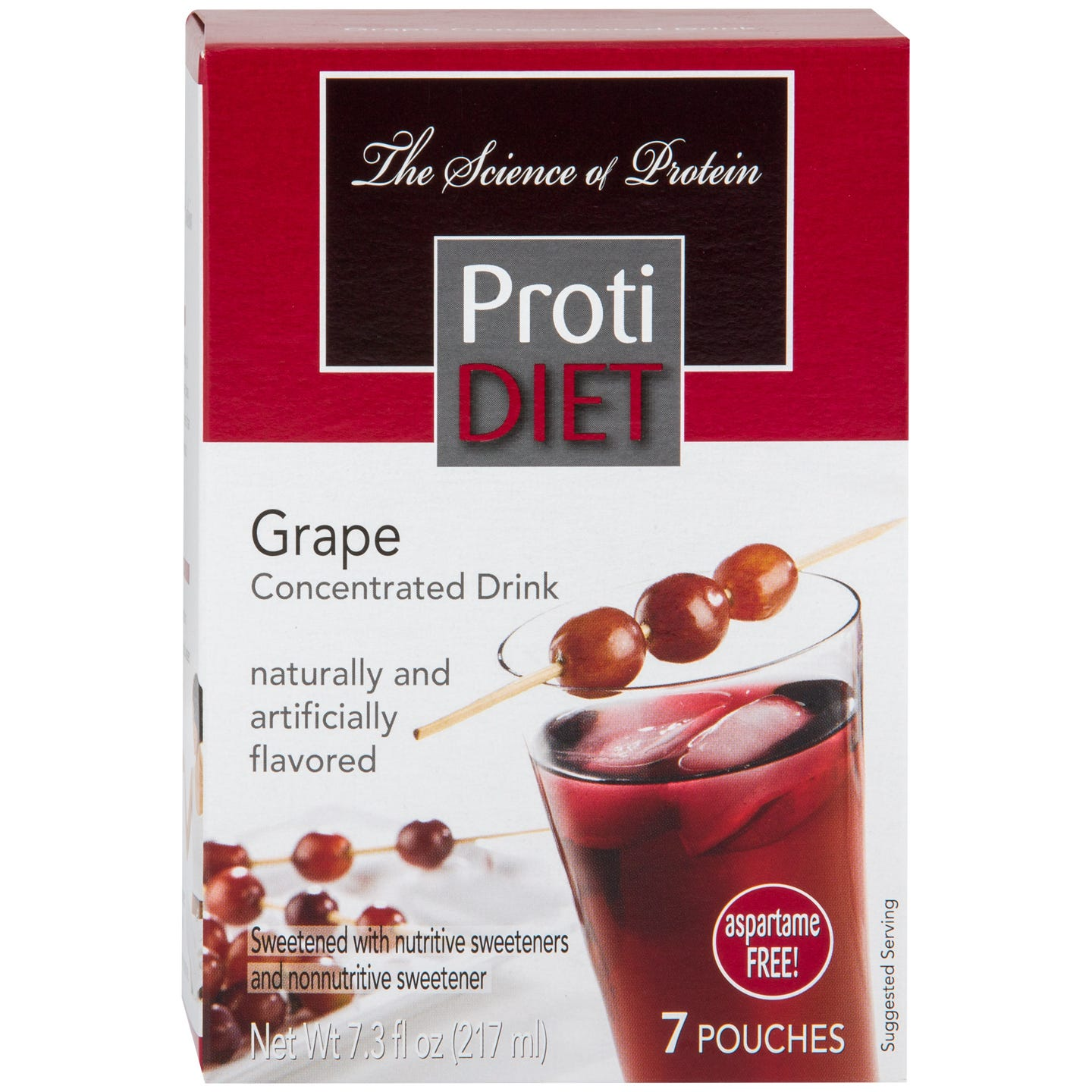 Protein Fruit Drink Concentrate Grape (7 Ct) - ProtiDiet