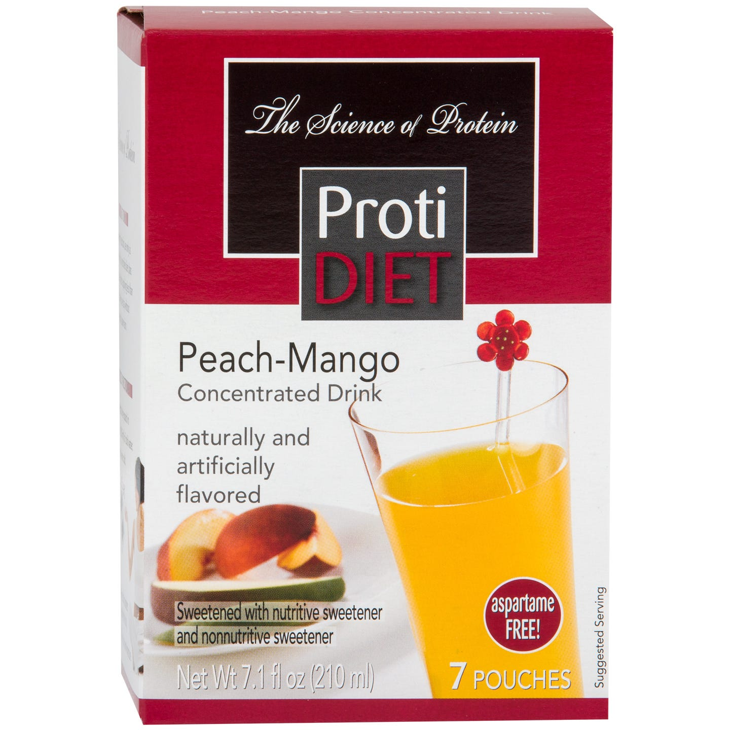Protein Fruit Drink Concentrate Peach Mango (7 Ct) - ProtiDiet