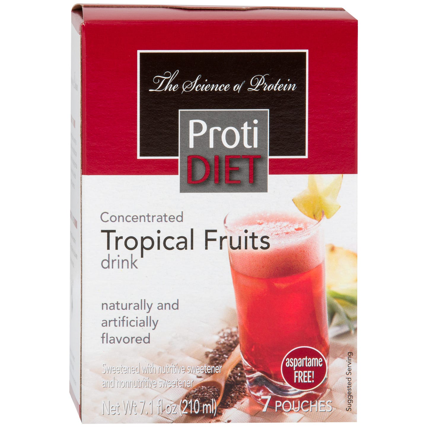 Protein Fruit Drink Concentrate Tropical Fruits (7 Ct) - ProtiDiet