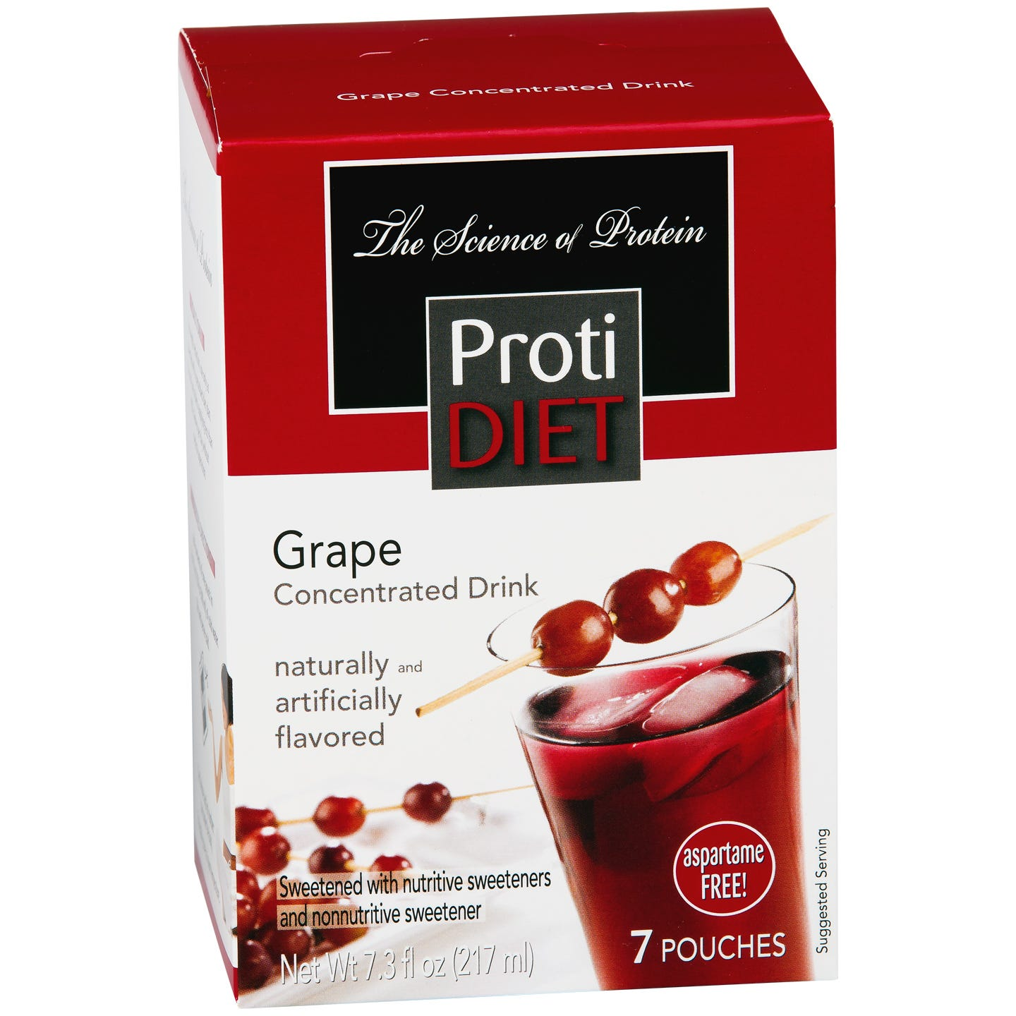 Protein Fruit Drink Concentrate Grape (7 ct) - ProtiDiet - Rapid Diet Weight Loss Products Shop