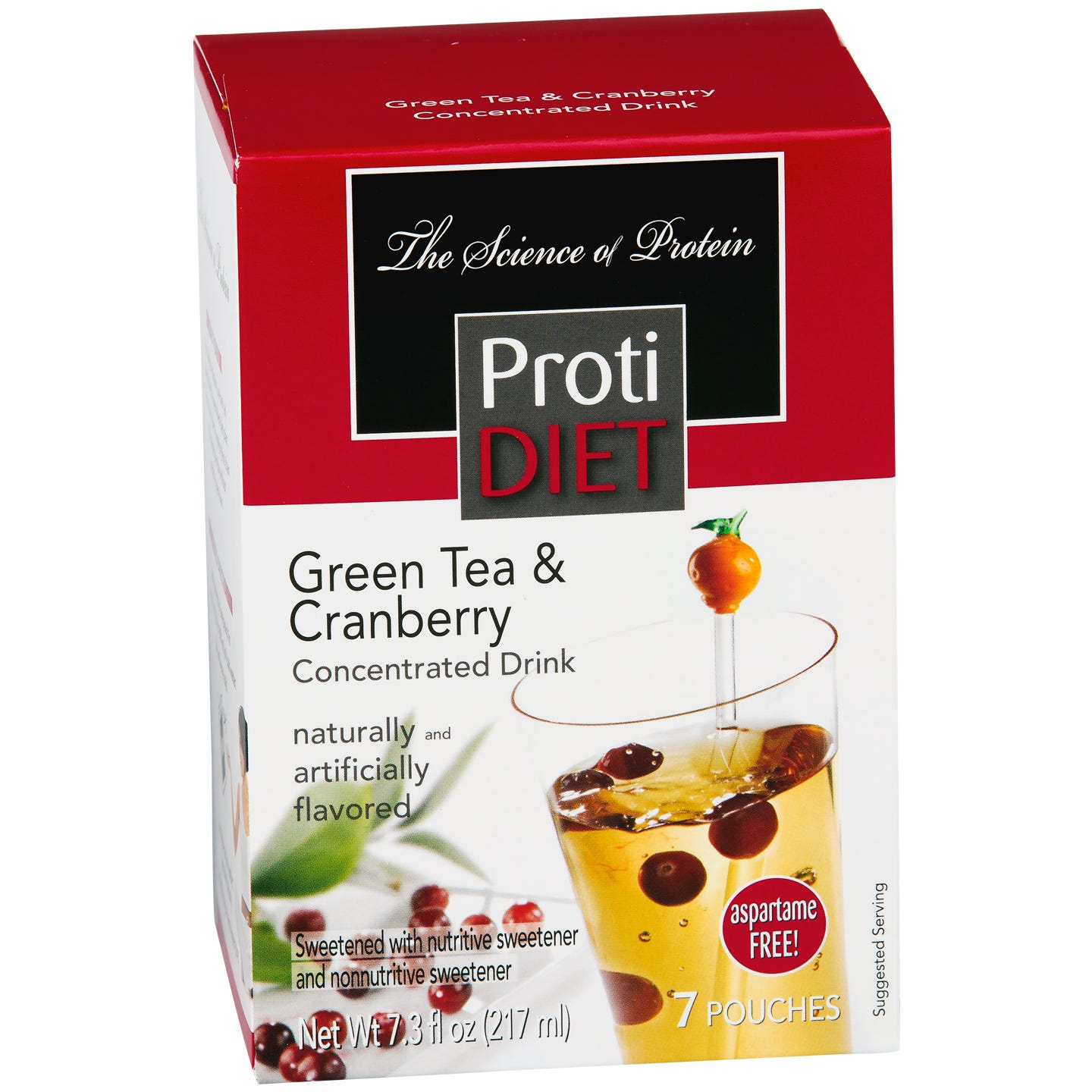 ProtiDiet Protein Fruit Drink Concentrate - Green Tea & Cranberry