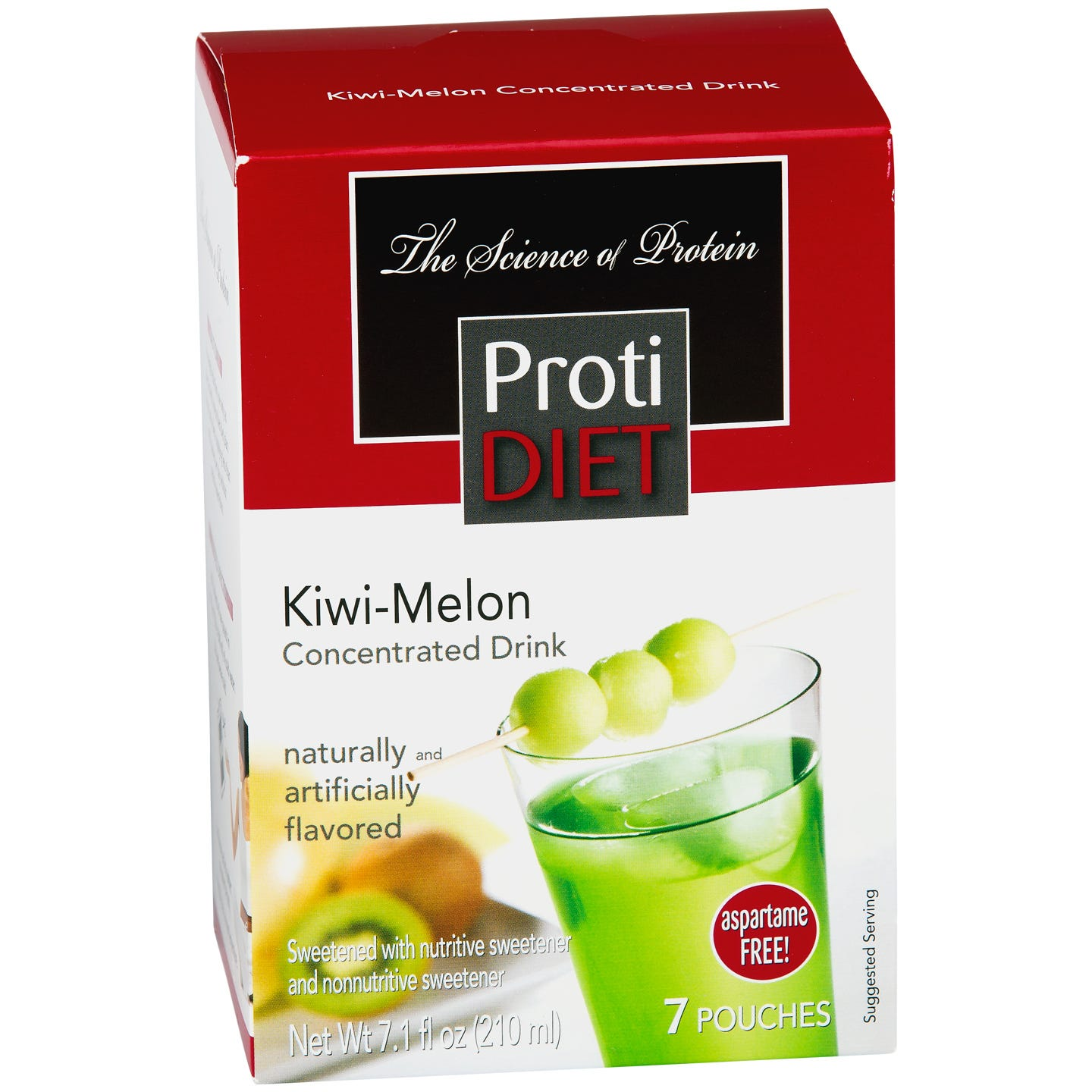 Protein Fruit Drink Concentrate Kiwi Melon (7 ct) - ProtiDiet - Rapid Diet Weight Loss Products Shop