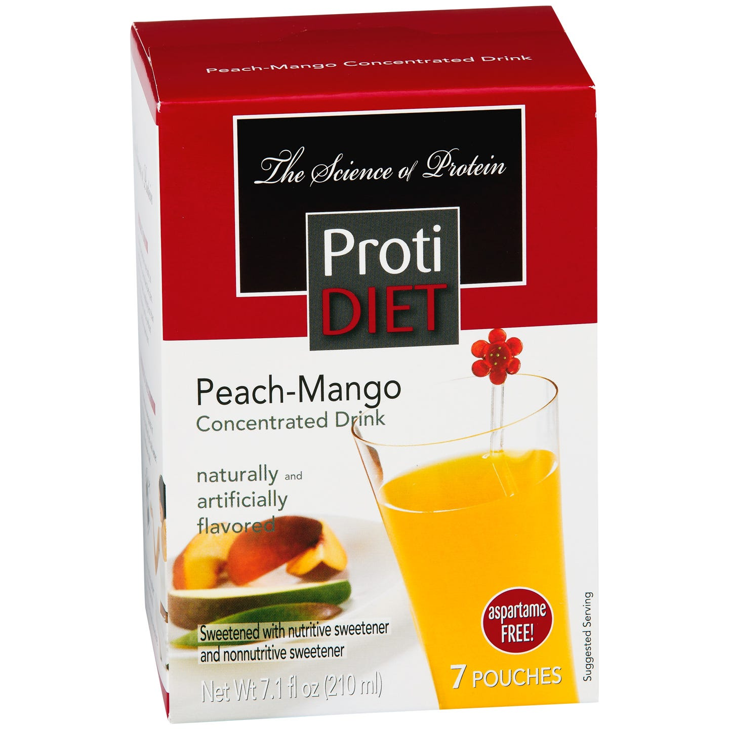 Protein Fruit Drink Concentrate Peach Mango (7 ct) - ProtiDiet - Rapid Diet Weight Loss Products Shop